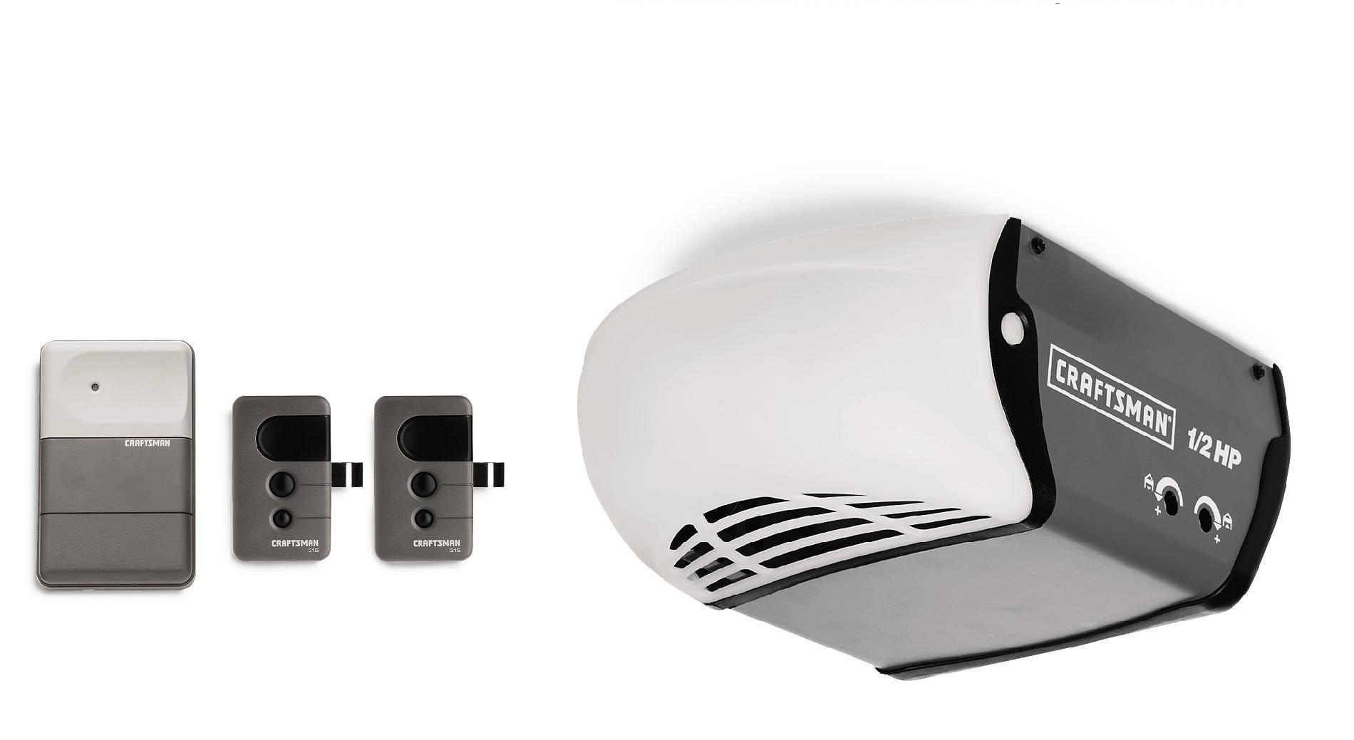 Craftsman 1/2 HP Chain Drive Garage Door Opener with 1 Additional Remote
