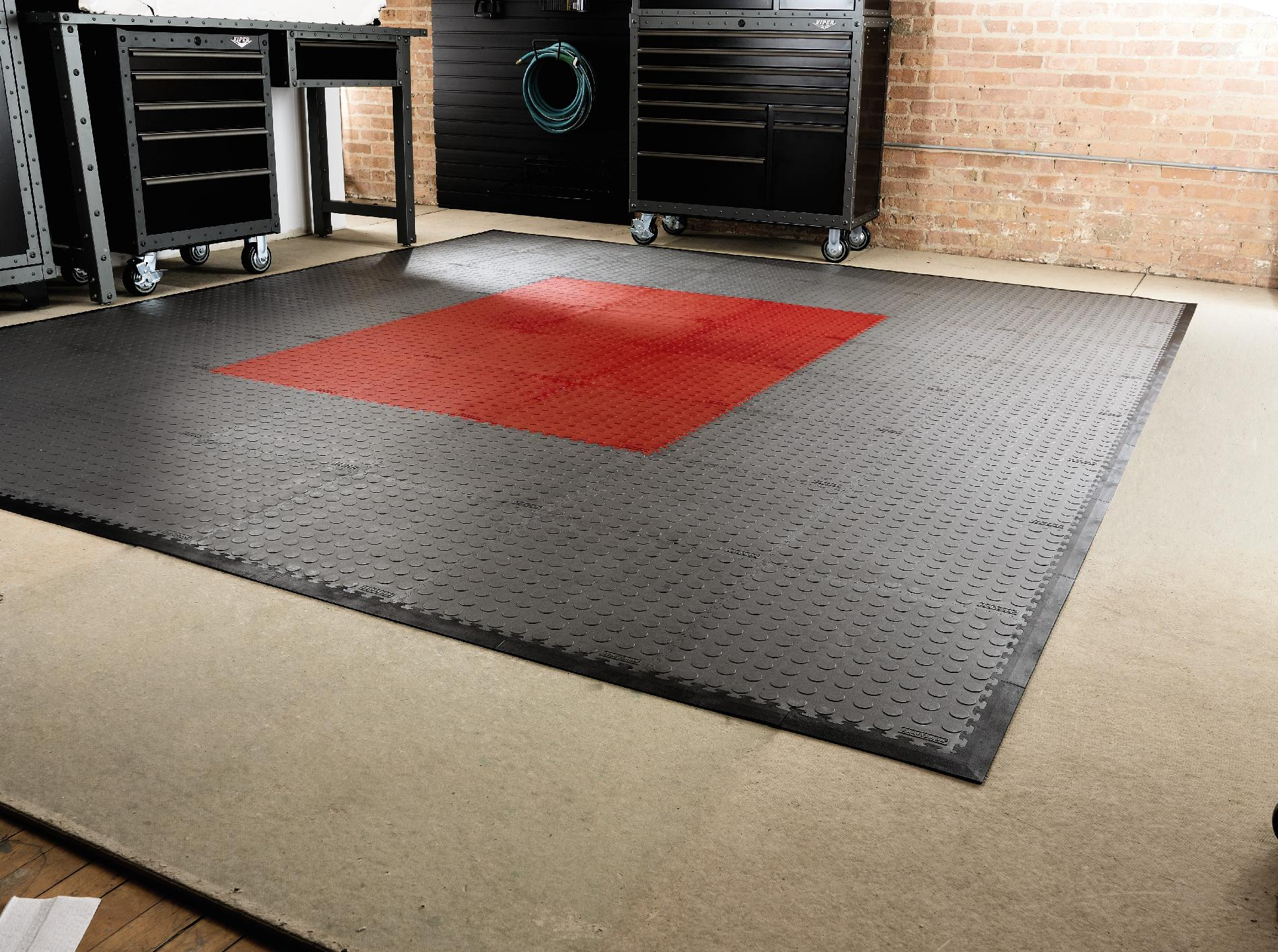 Craftsman Gray PVC Multi-Purpose Raised Coin Garage Flooring