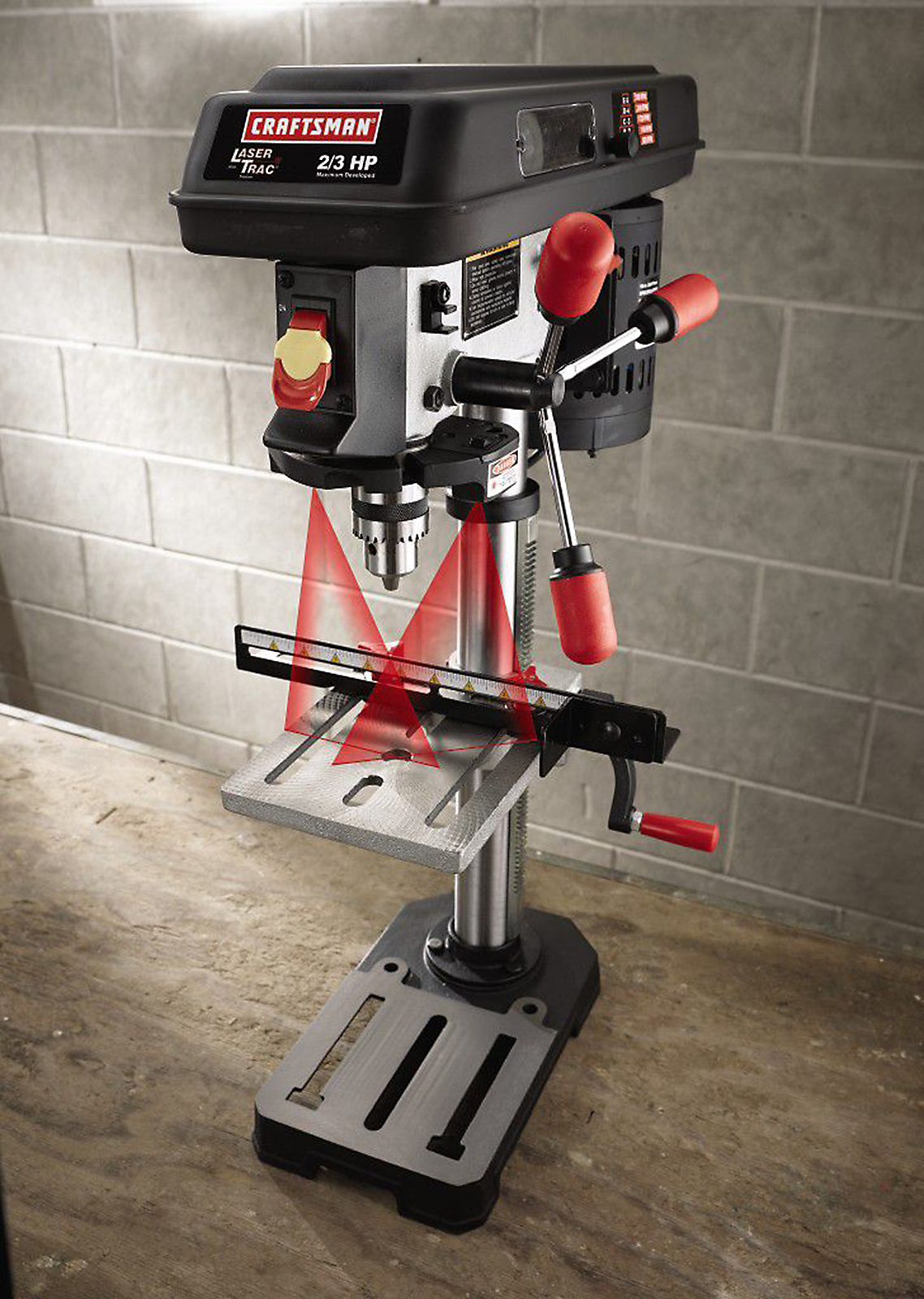 "Craftsman 10"" Bench Drill Press with Laser Trac® (21900)"