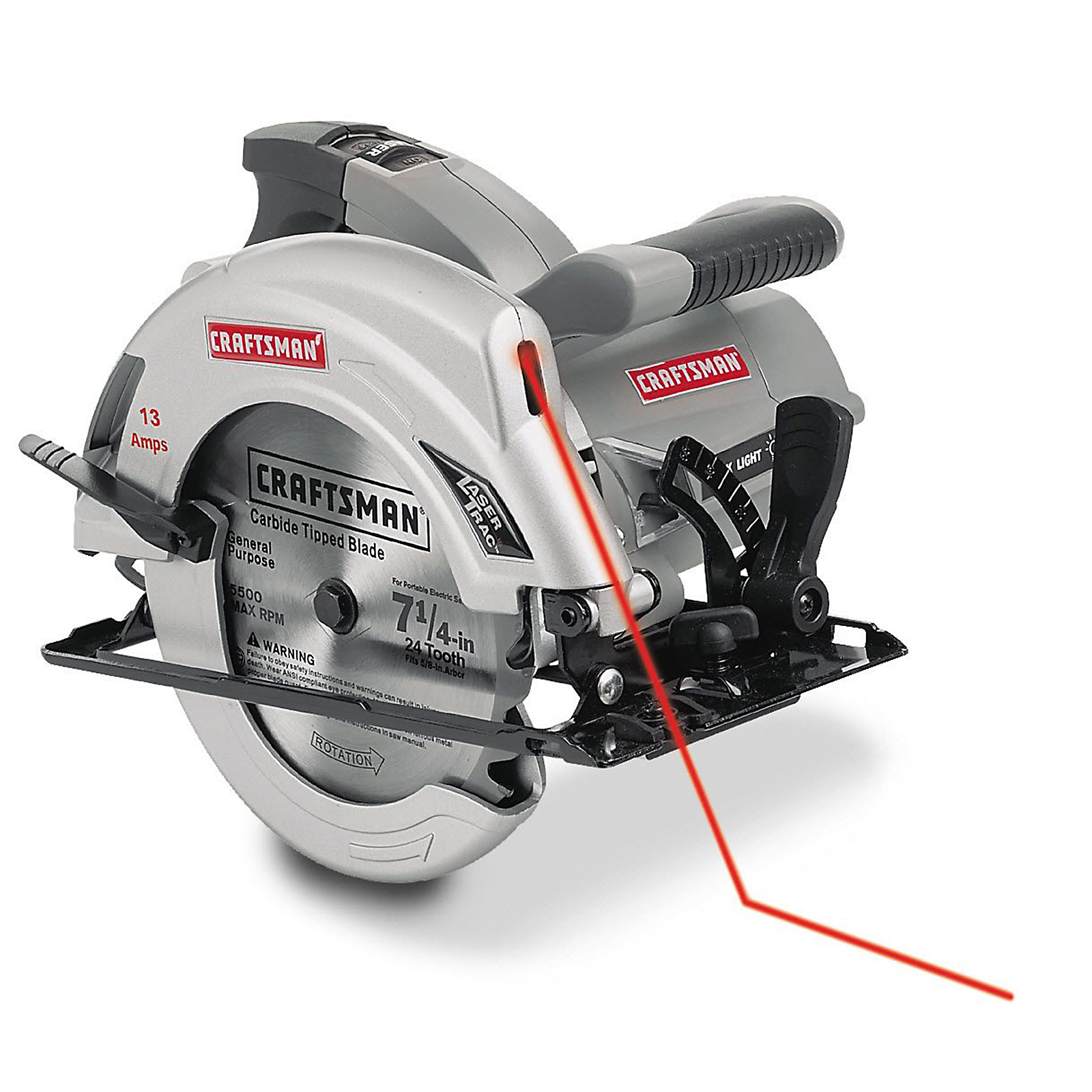 "Craftsman Craftsman 7 1/4"" Circular Saw 10871 13 amp - Sears"