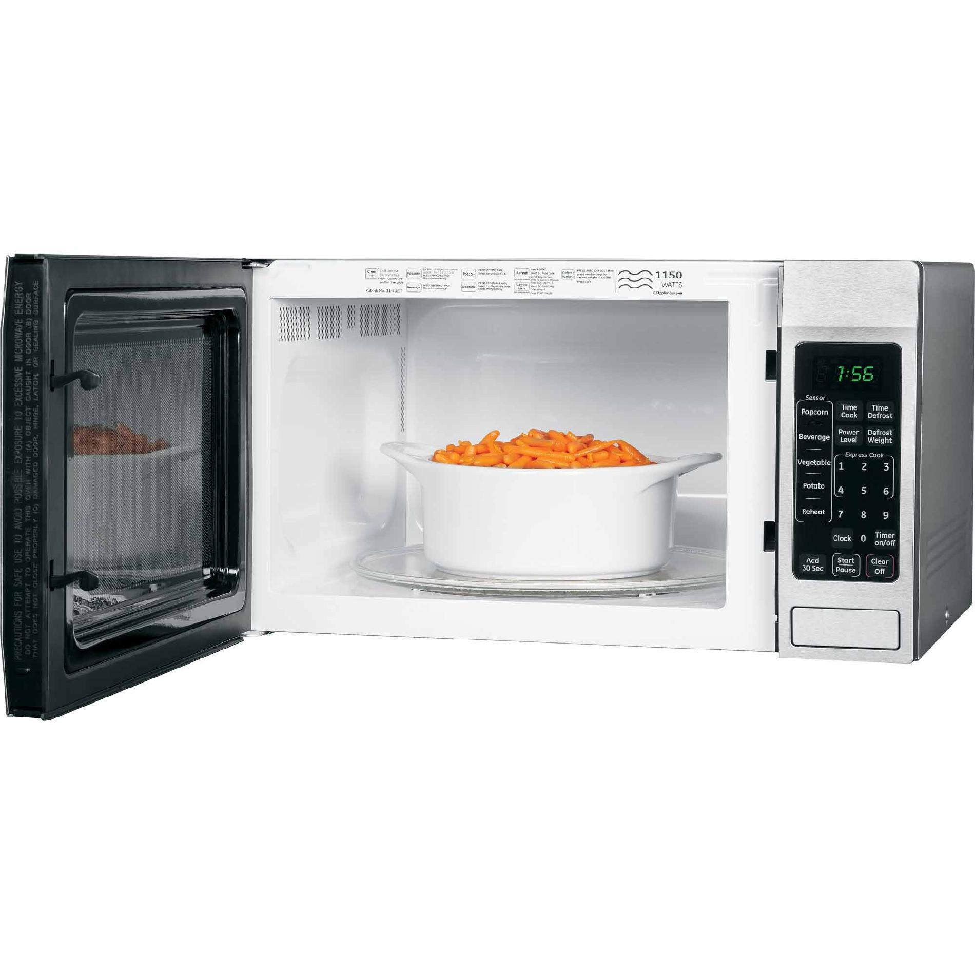 GE Appliances 1.6 cu. ft. Countertop Microwave Oven - Stainless Steel