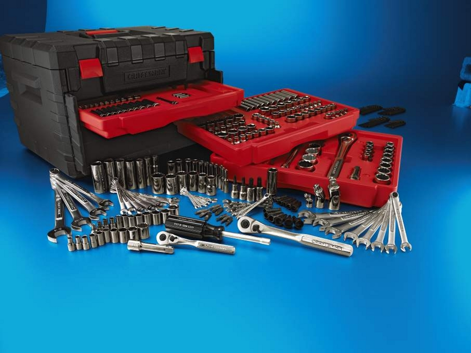 Craftsman 258-Piece Mechanics Tools Set with 3 Drawer Case