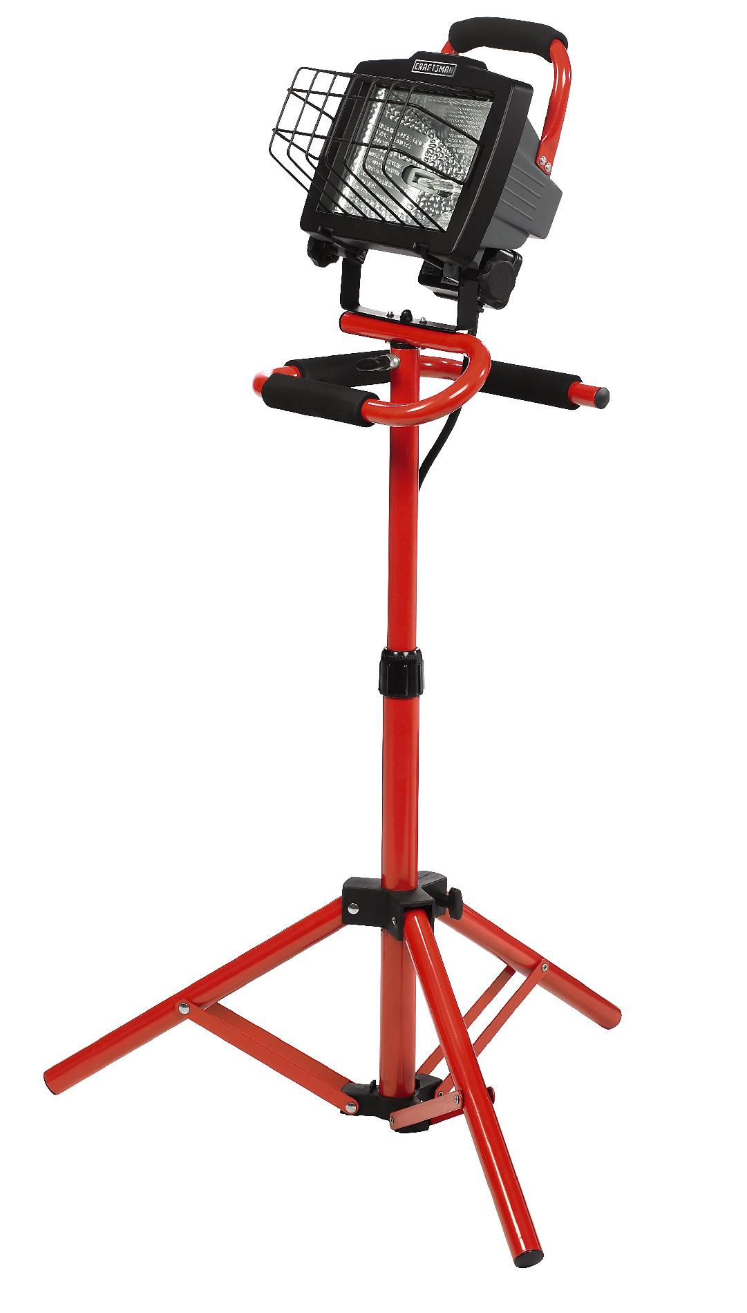 Craftsman 500-Watt Tripod Light with Portable Stand