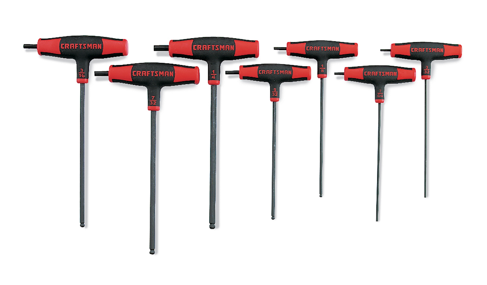 Craftsman 7 pc. Standard T-Through Handle Ball End Hex Key Set