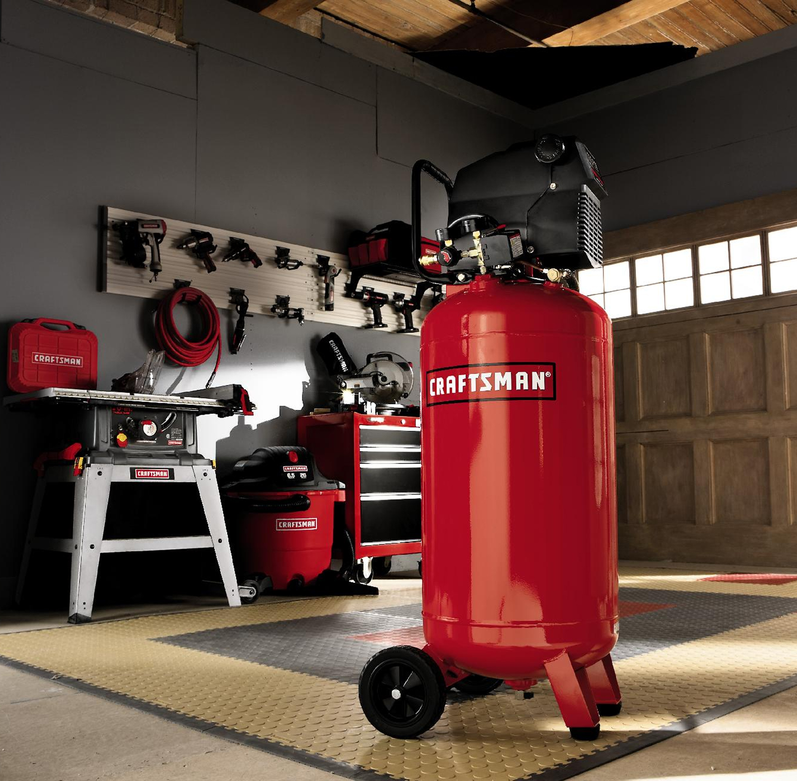Craftsman 26 Gallon Air Compressor with Impact Wrench and Ratchet