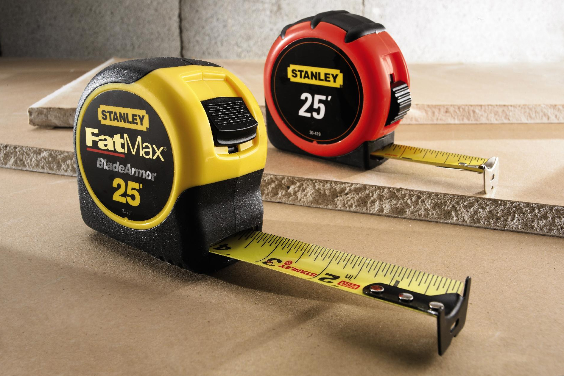 Stanley 1-1/4 in. x 25 ft. Steel Measuring Tape