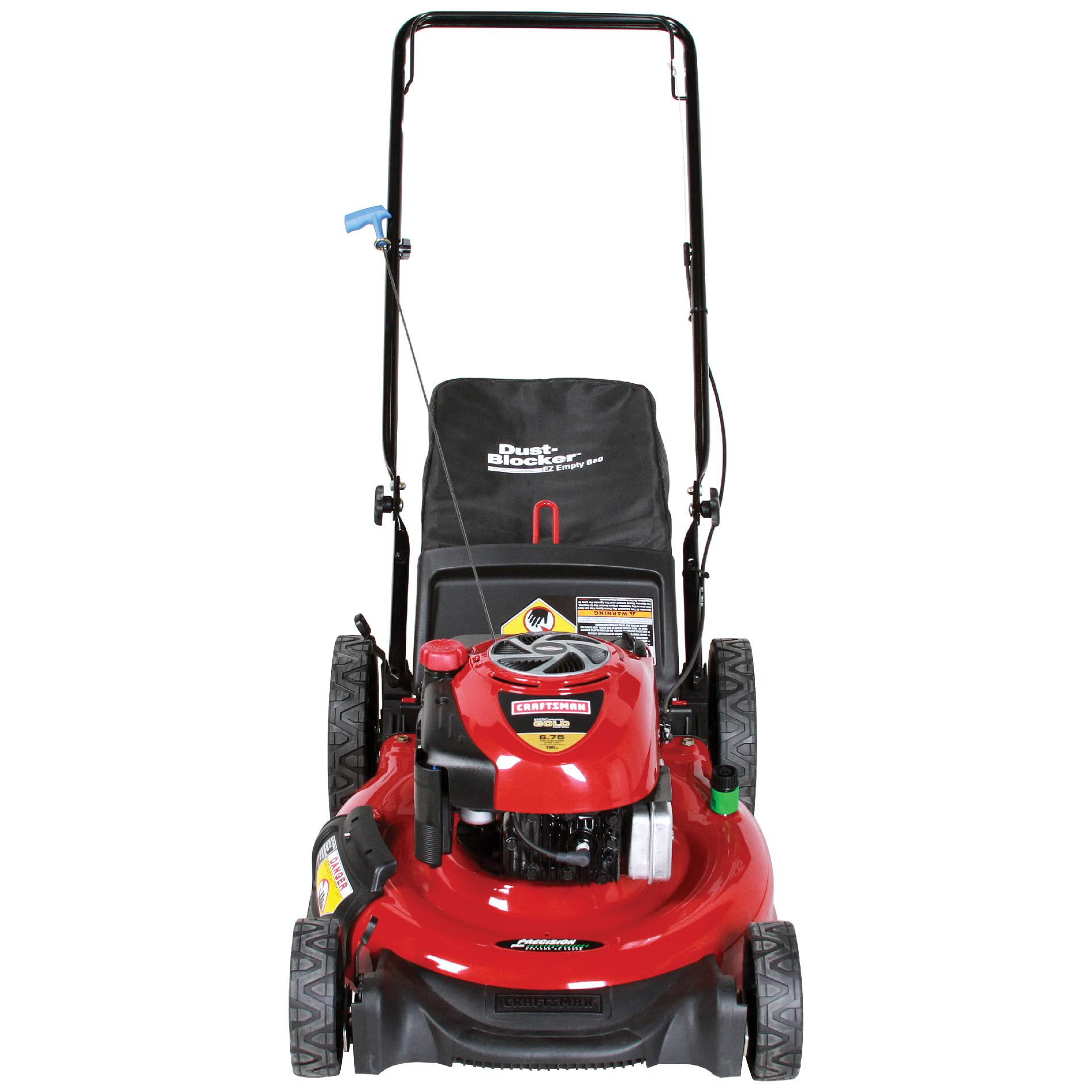 Craftsman 190cc* Briggs & Stratton Engine, High-Wheel Rear Bag Push Mower 50 States