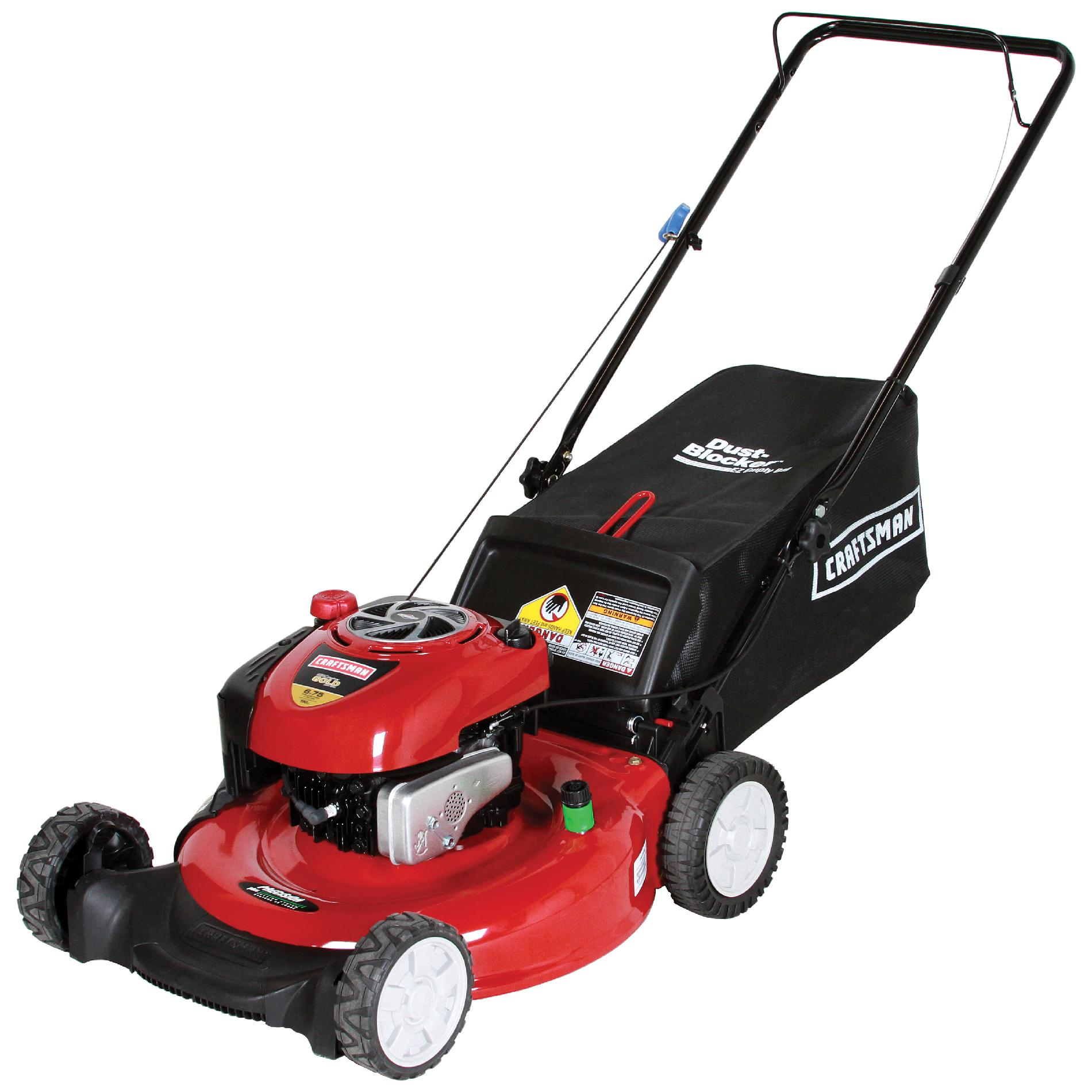 Craftsman 190cc* Briggs & Stratton Engine, Low-Wheel Rear Bag Push Mower