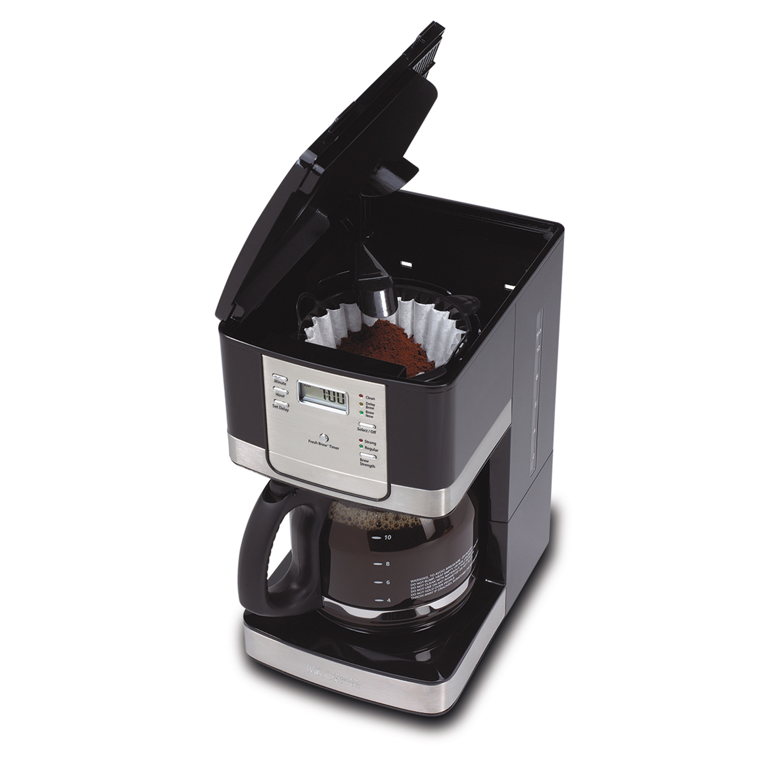Mr. Coffee 12-Cup Programmable Coffee Maker - Stainless Steel/Black