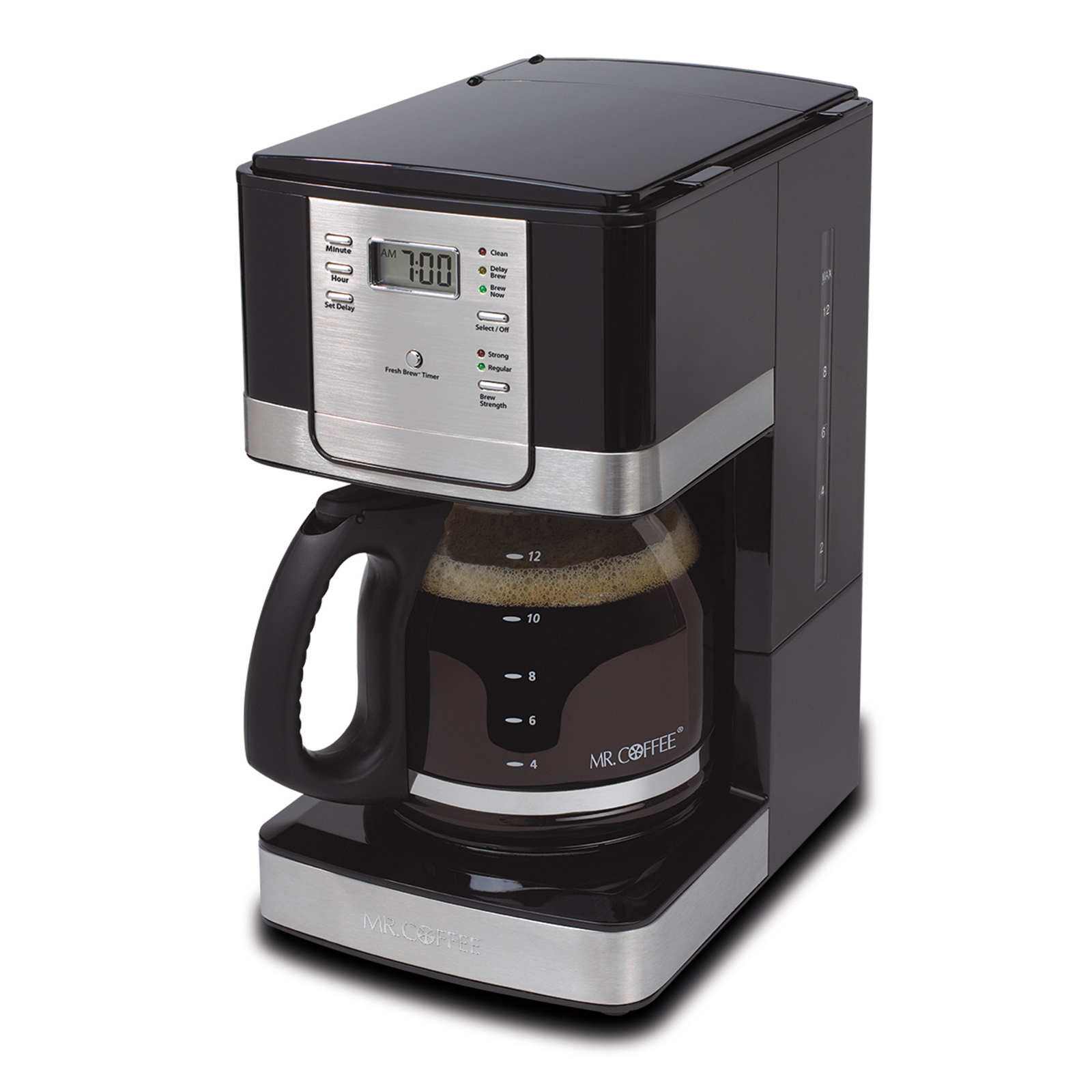Mr. Coffee 12-Cup Programmable Coffee Maker Stainless Steel/Black - JWX27-A