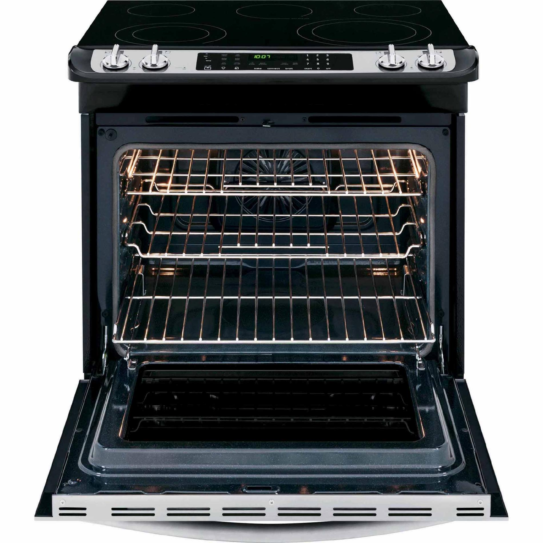 Frigidaire FGES3065PF Gallery 4.6 cu. ft. Slide-In Electric Range w/ Smudge-Proof™- Stainless Steel
