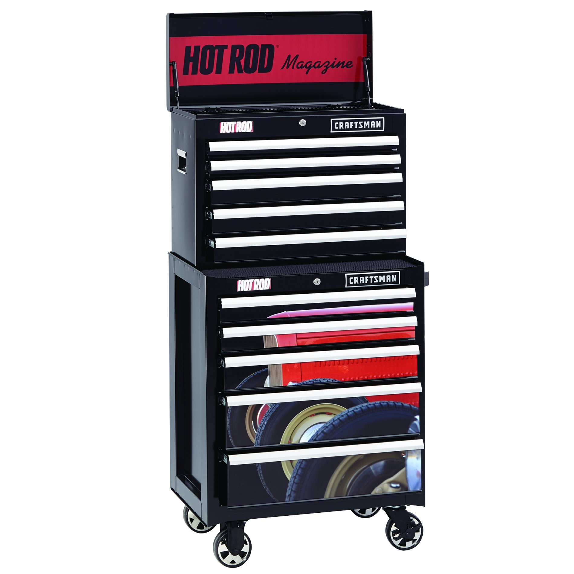 Craftsman 26 in. 5-Drawer Heavy-Duty Ball Bearing Rolling Cabinet - Hot Rod®