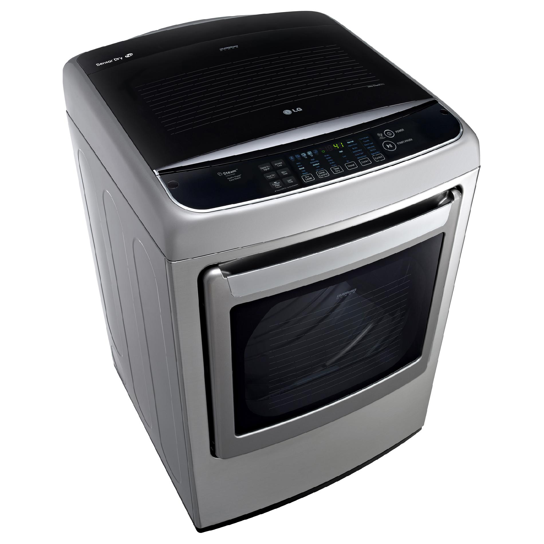 LG DLGY1702V 7.3 cu. ft. Graphite Steel Steam Gas Dryer w/ Front Controls
