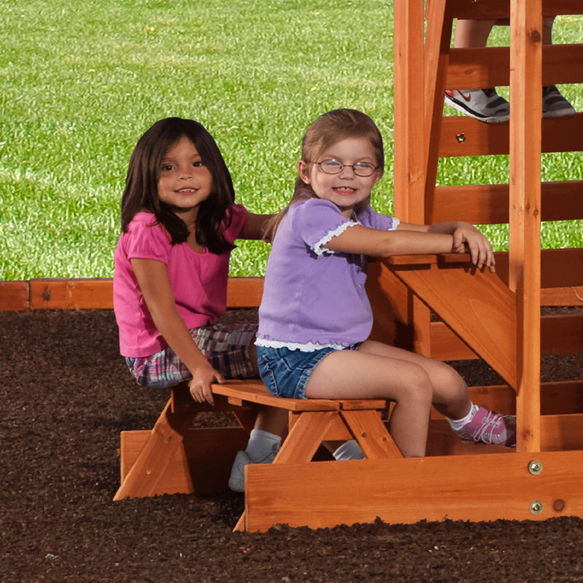 Backyard Discovery Prestige Wood Swing Set