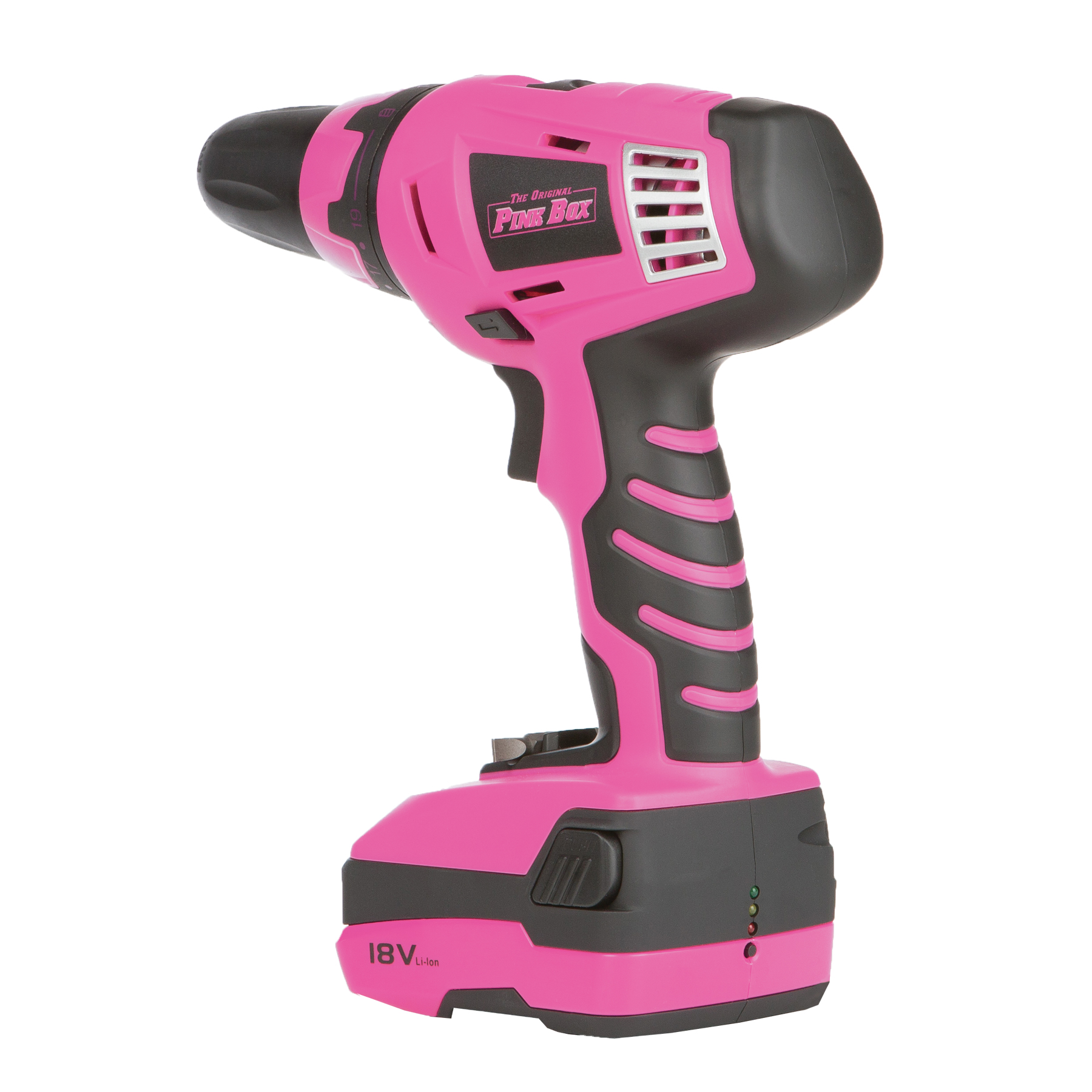 The Original Pink Box 18-Volt Lithium Ion Rechargeable Cordless Pink Drill
