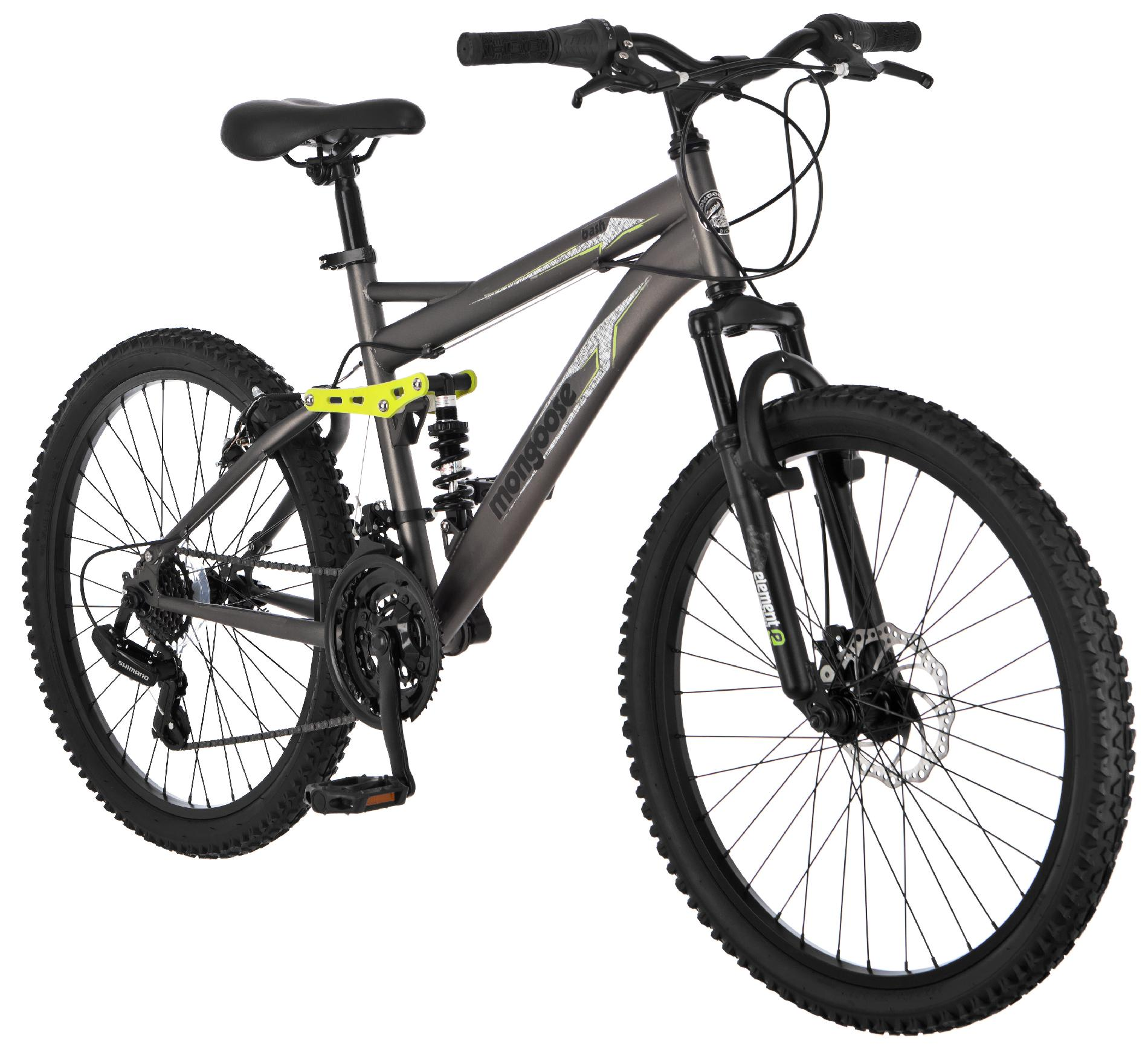 "Mongoose 24"" Boys Bash Mountain Bike"