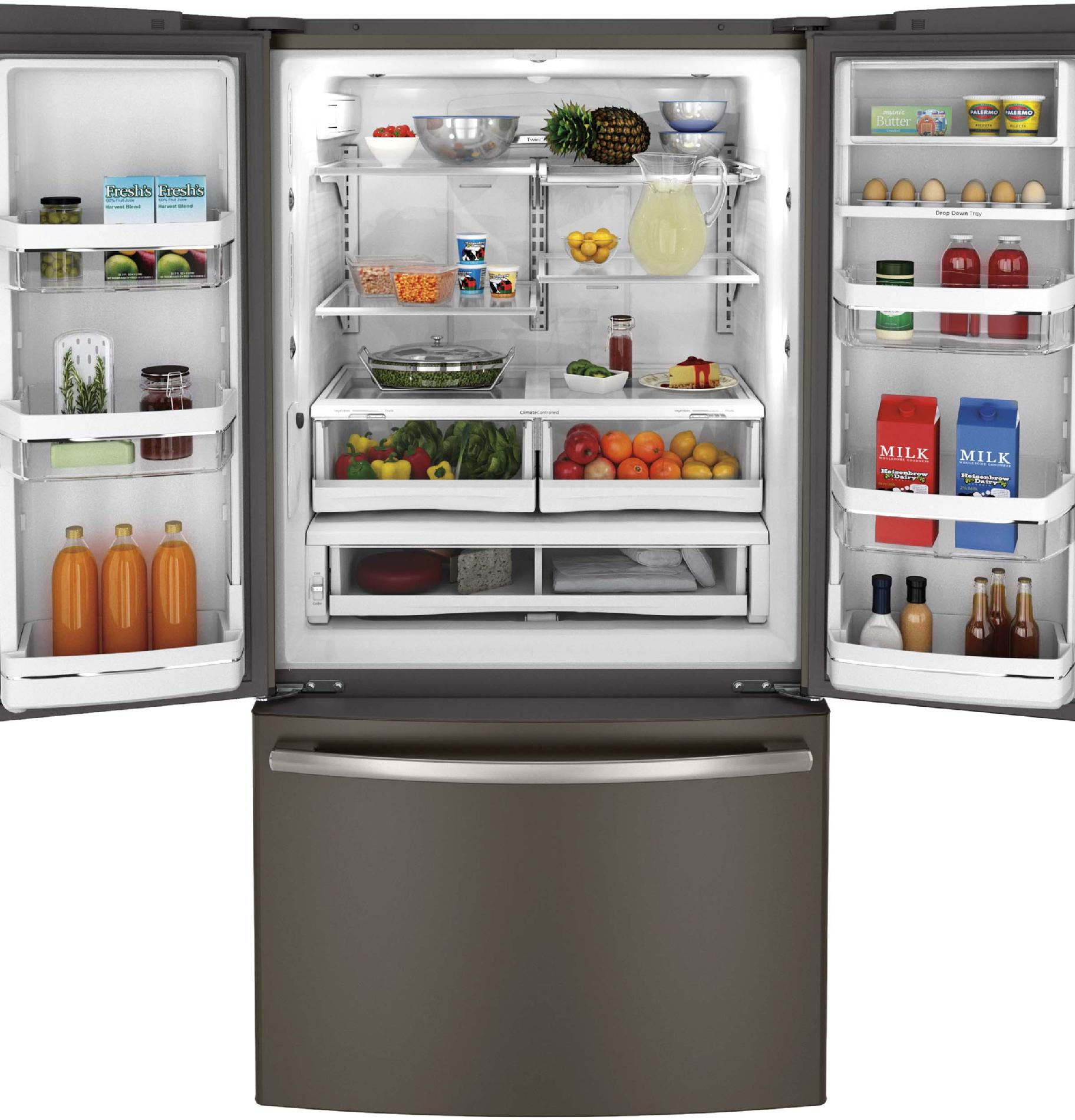 GE Profile 23.1 cu. ft. Counter-Depth French-Door Refrigerator - Slate