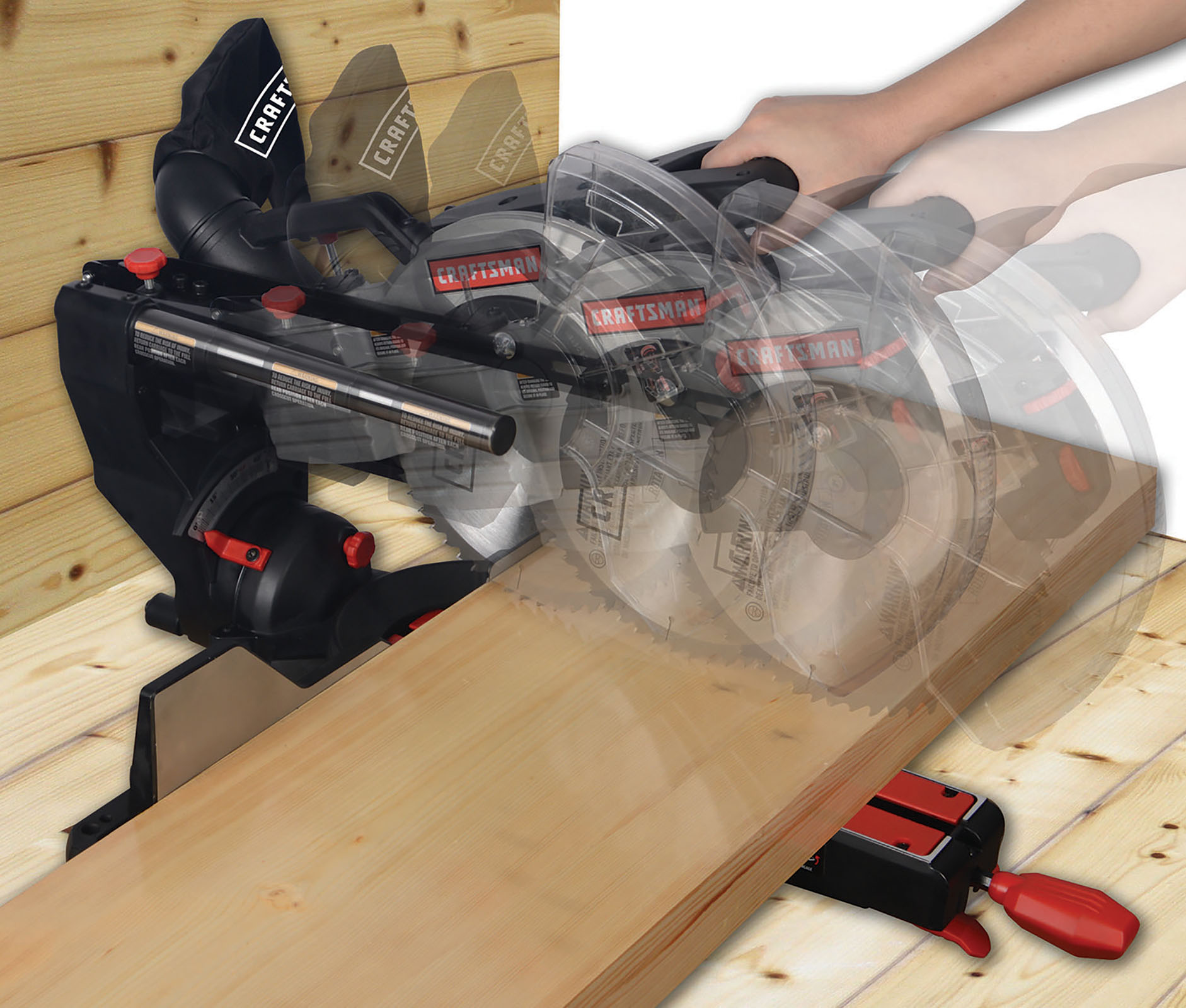"Craftsman 10"" Compact Sliding Compound Miter Saw - Sears"