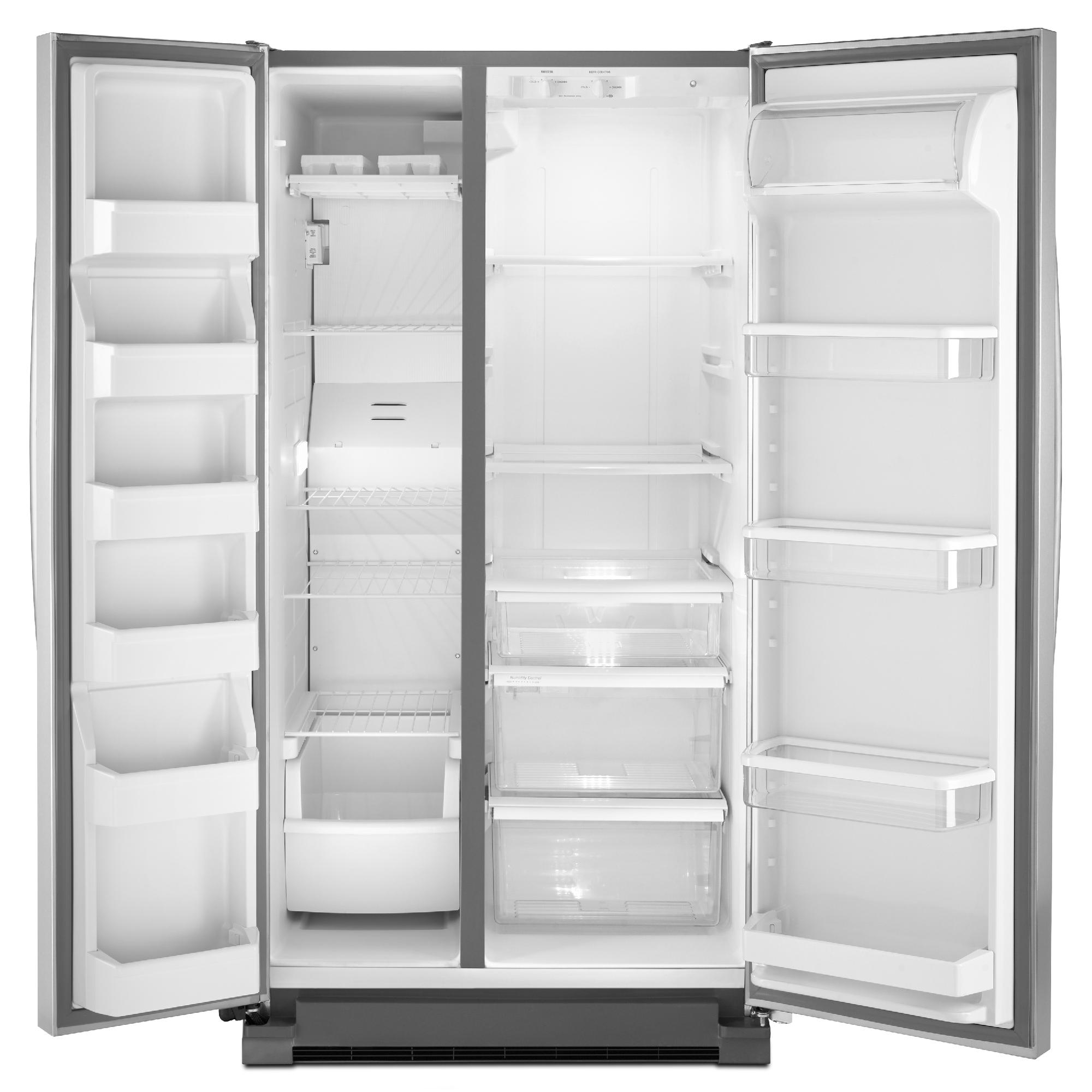 Whirlpool 24.9 cu. ft. Side-by-Side Refrigerator w/ Accu-Chill™ Temperature Management - Stainless Steel