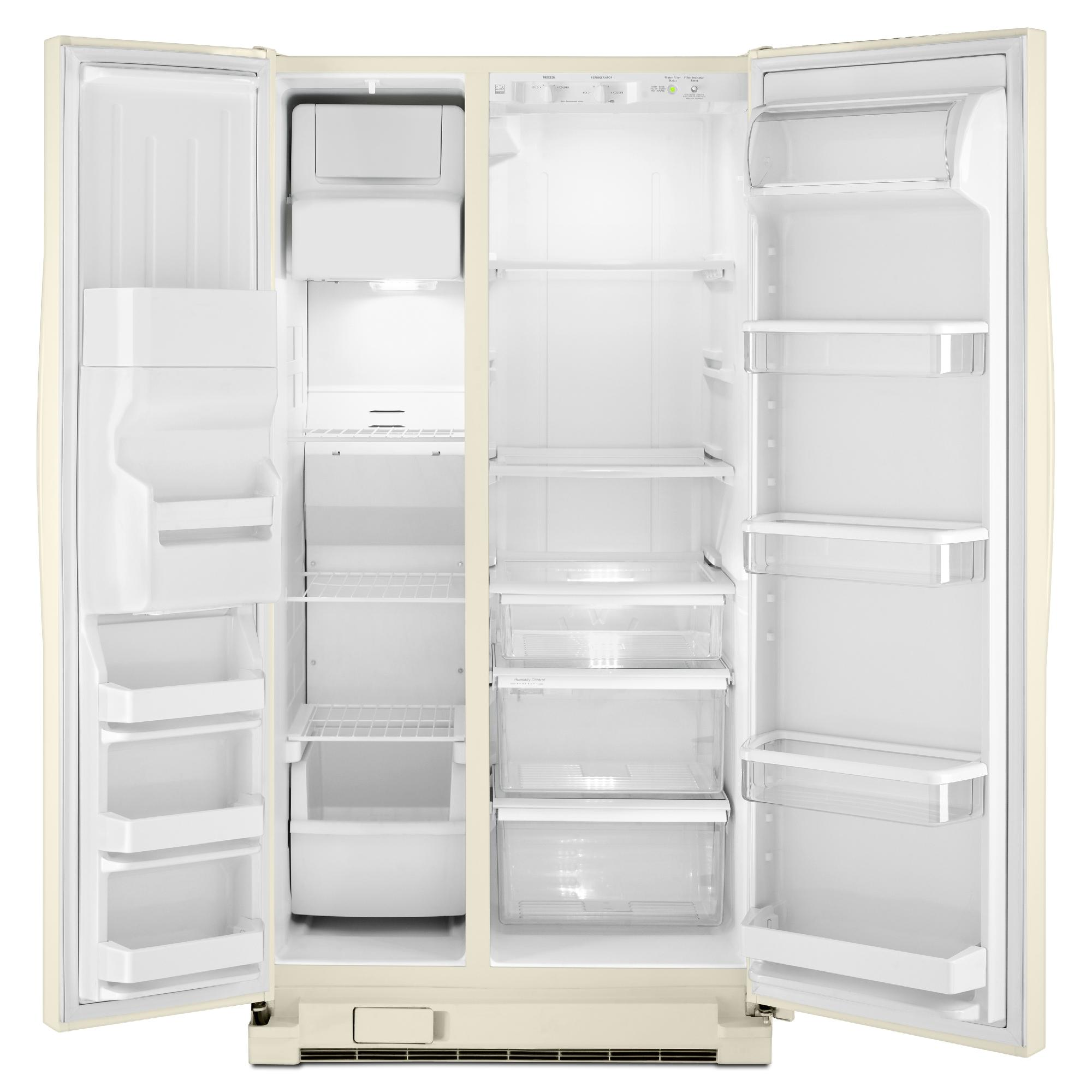 Whirlpool WRS325FDAT 24.9 cu. ft. Side-by-Side Refrigerator w/ Accu-Chill™- Bisque