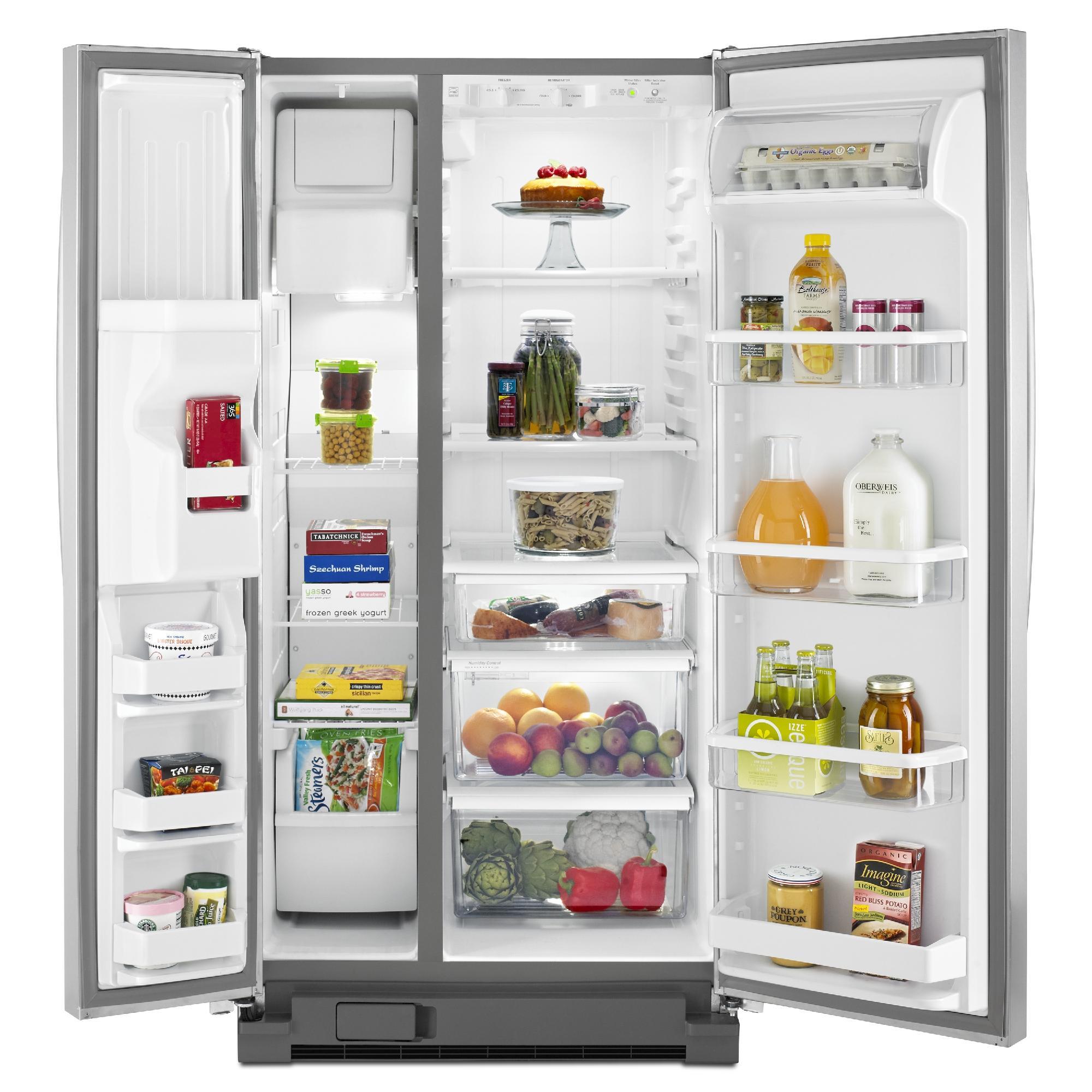 Whirlpool WRS322FDAD 21.0 cu. ft. Side-by-Side Refrigerator w/ Accu-Chill™ - Silver