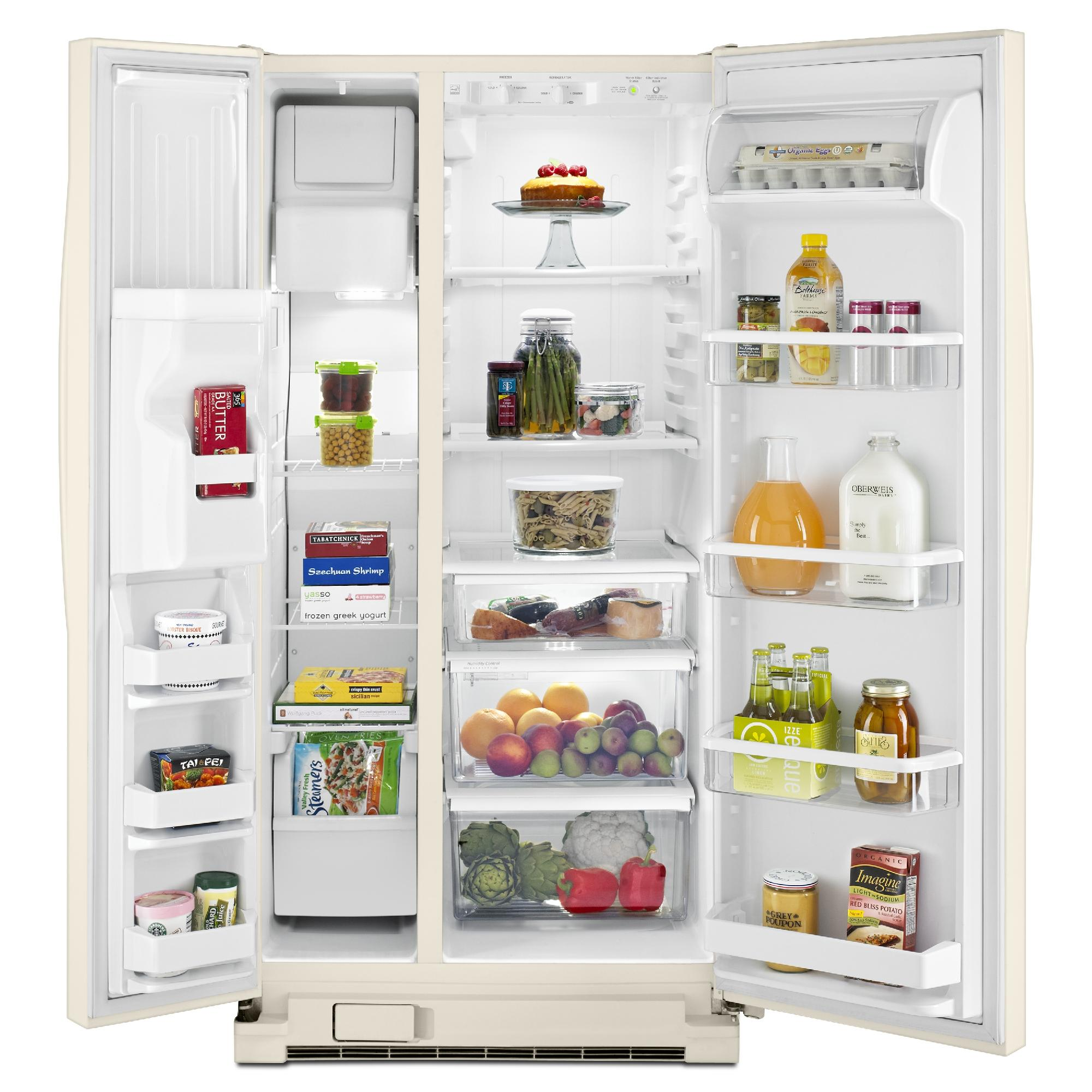 Whirlpool WRS322FDAT 21.0 cu. ft. Side-by-Side Refrigerator w/ Accu-Chill™ - Bisquit