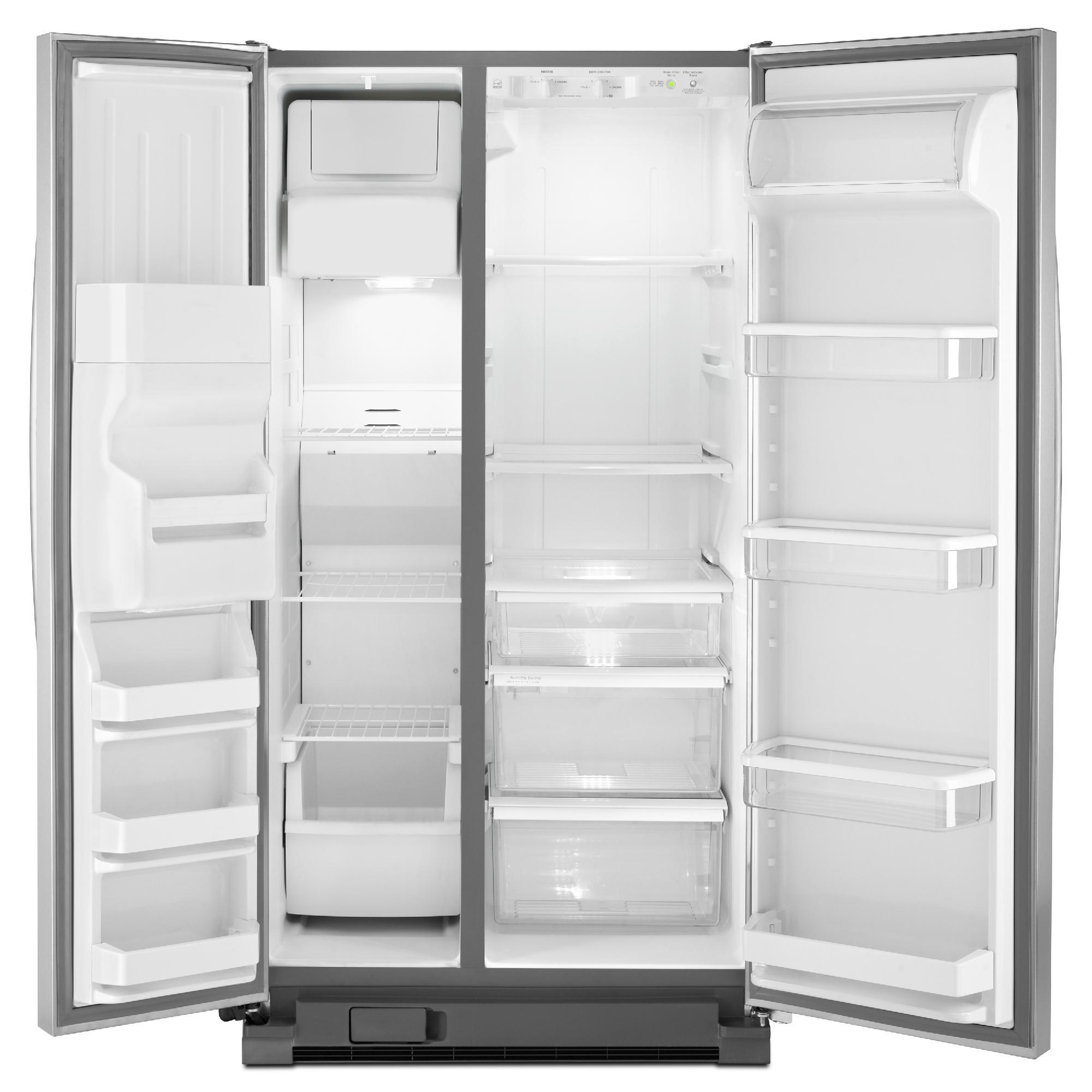 Whirlpool WRS325FDAD 24.9 cu. ft. Side-by-Side Refrigerator w/ Accu-Chill™- Metallic