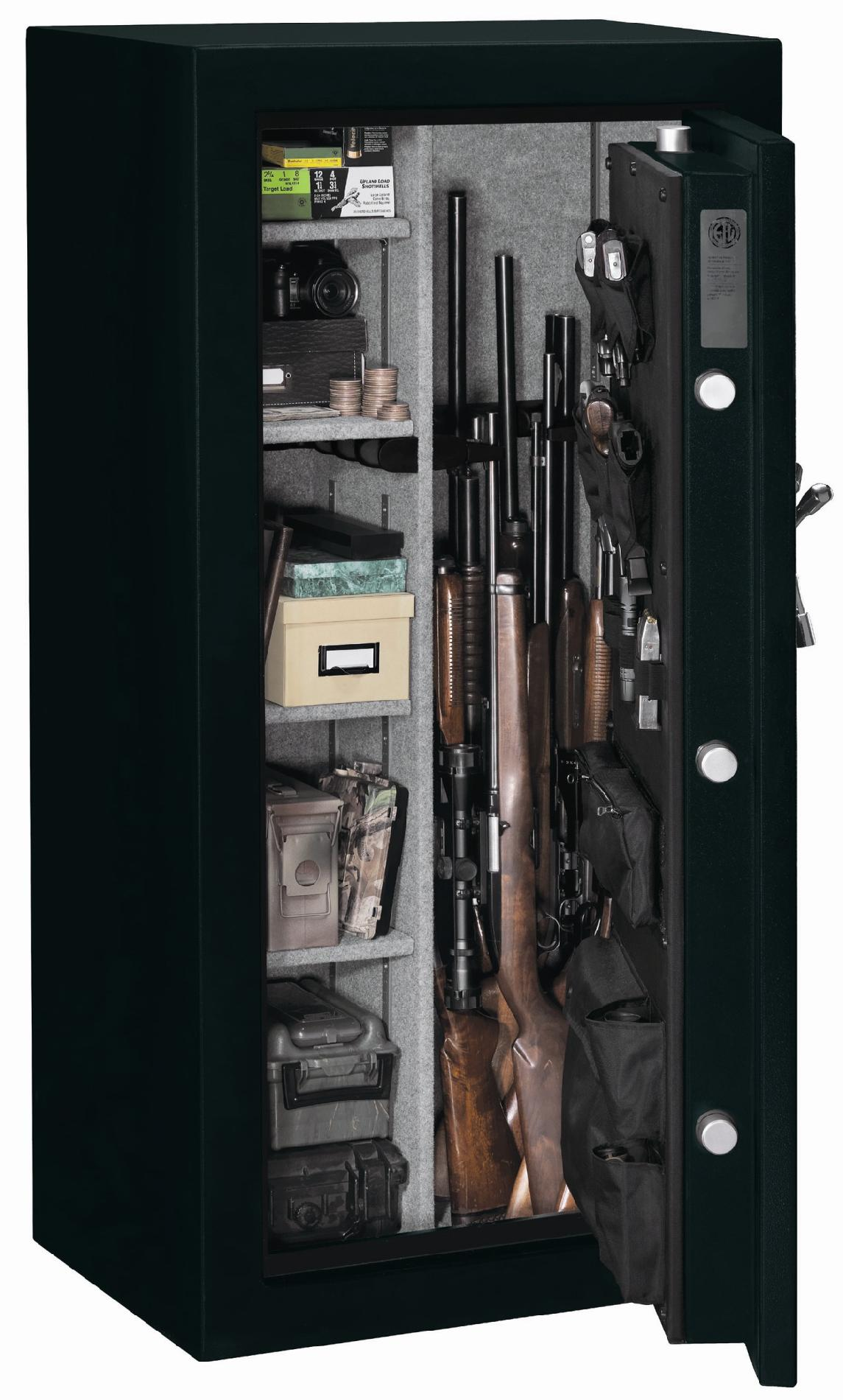 Stack-On Elite 24-Gun Fire Rated Safe with Electronic Lock and Door Storage Organizer