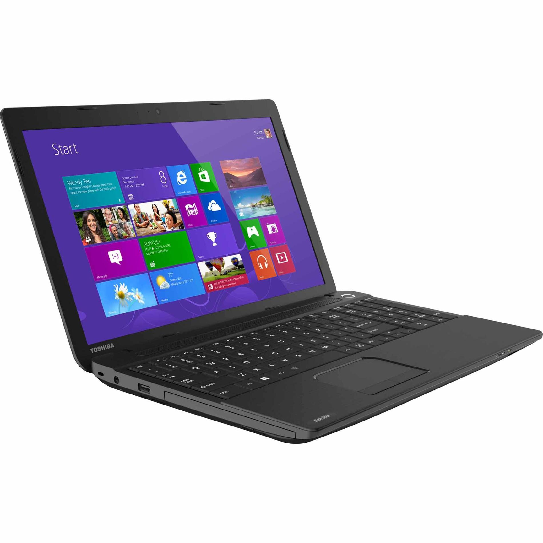 "Toshiba Notebook Satellite C55DA Series 1.0GHz AMD E1-2100 Processor 15.6"" Display"