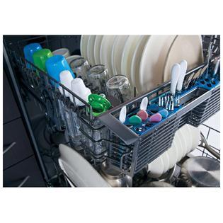 "GE 24"" Hybrid Built-in Dishwasher w/ Stainless Steel Interior - Black"