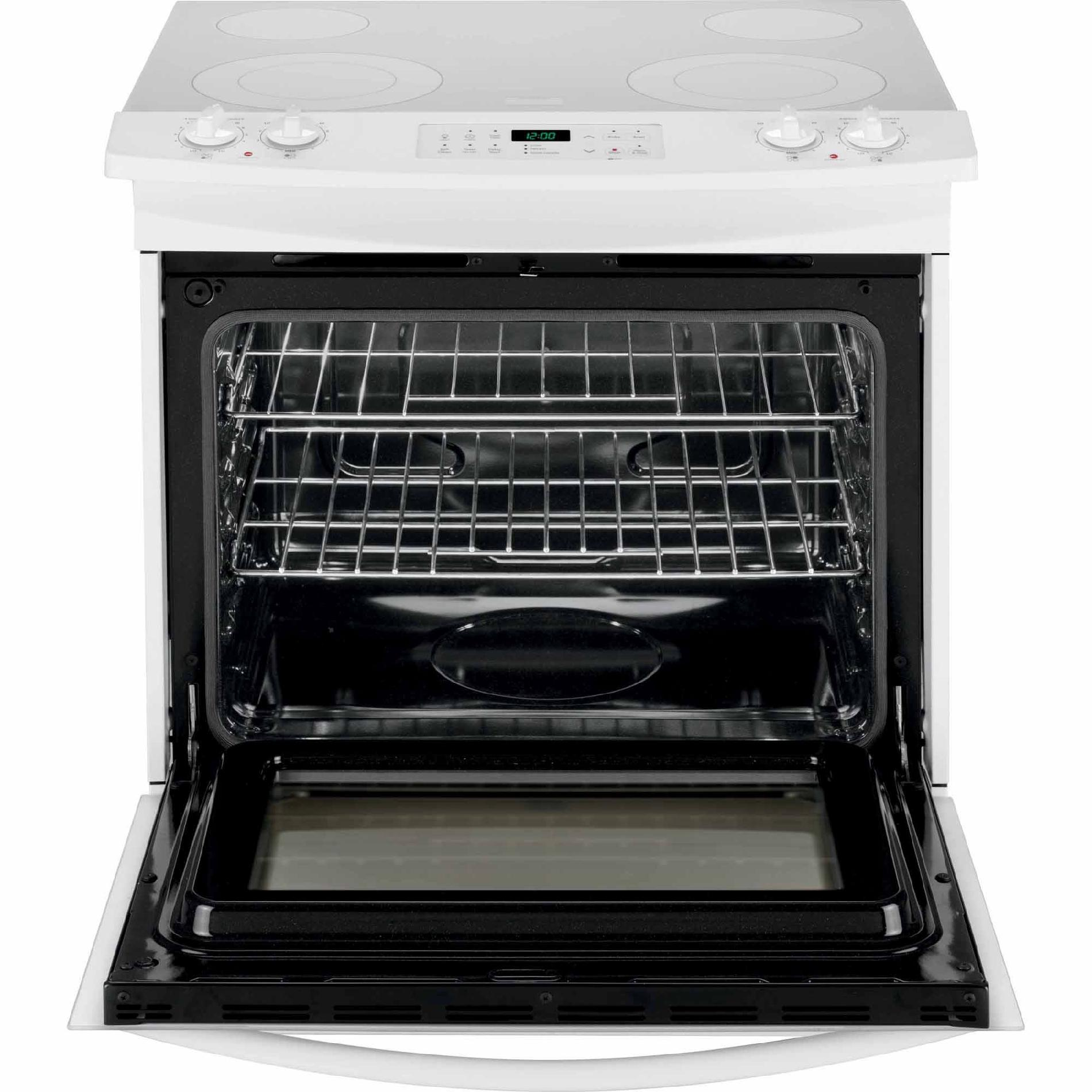 Kenmore 4.6 cu. ft. Slide-In Electric Range w/ White Ceramic Smoothtop Cooktop - White