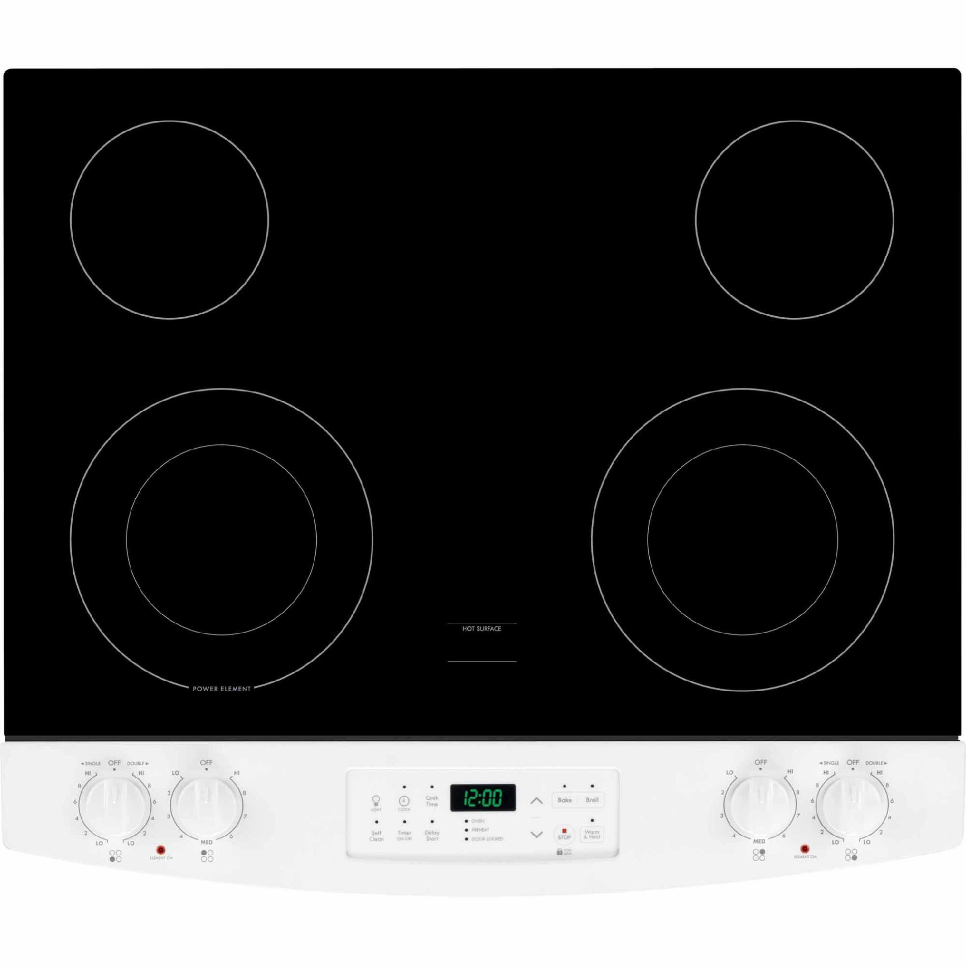 Kenmore 42531 4.6 cu. ft. Slide-In Electric Range w/ Black Ceramic Smoothtop Cooktop - White