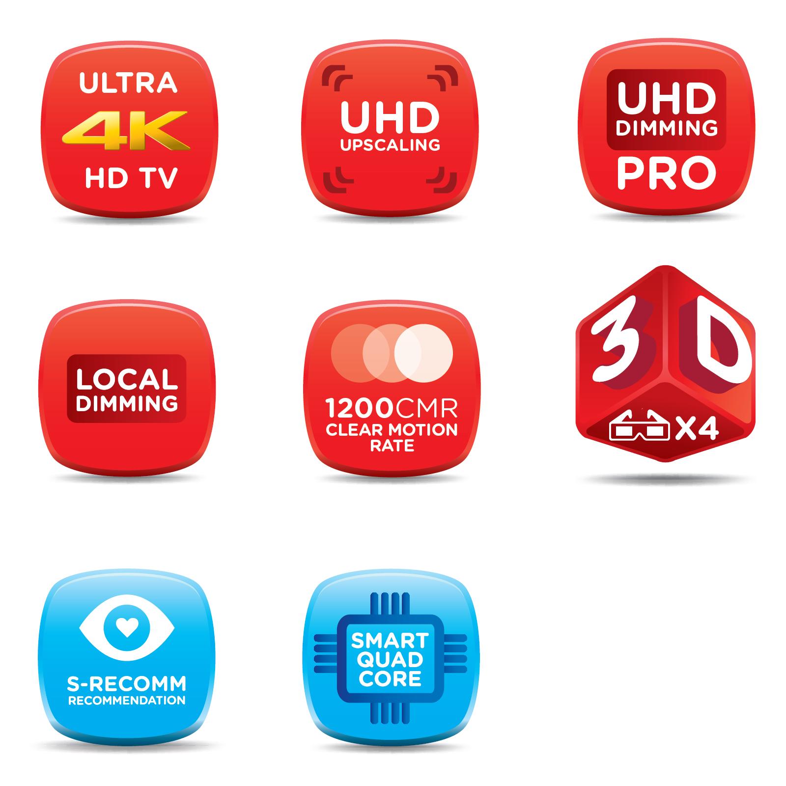 """Samsung 65"""" Class 4K UHD Smart HDTV - UN65HU8550"""