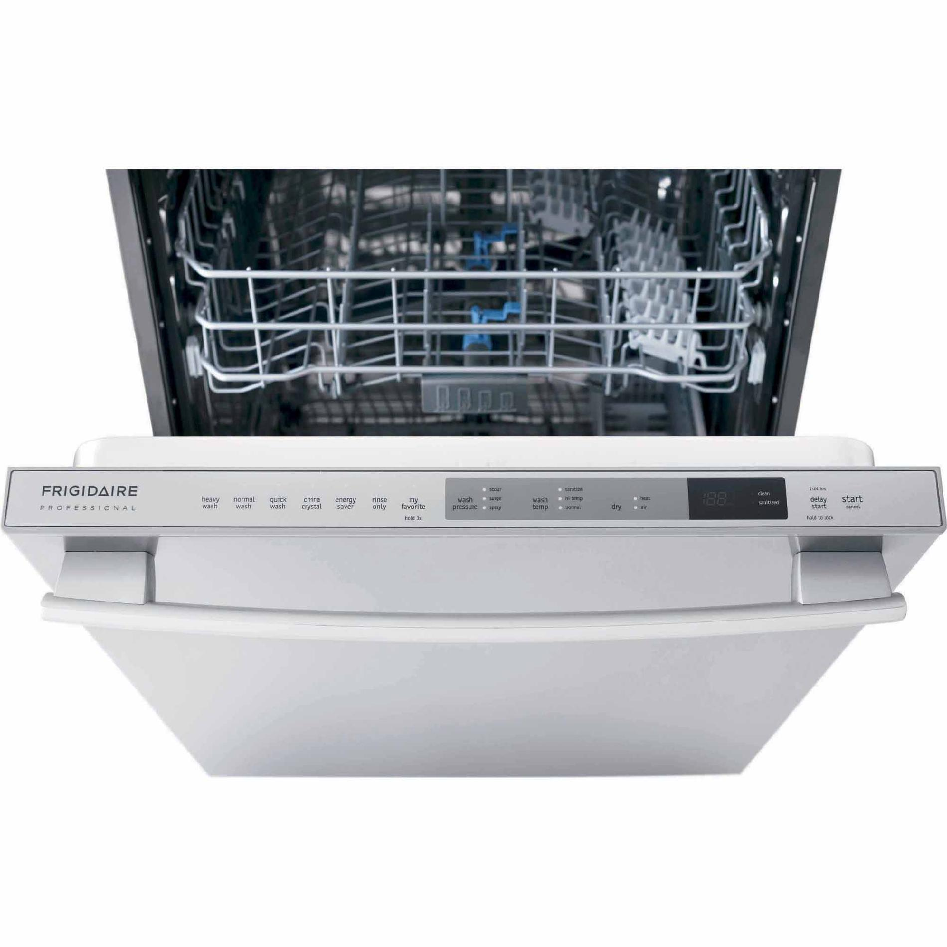 "Frigidaire 24"" Professional Built-In Dishwasher w/ Orbit Clean Wash Arm - Stainless Steel"