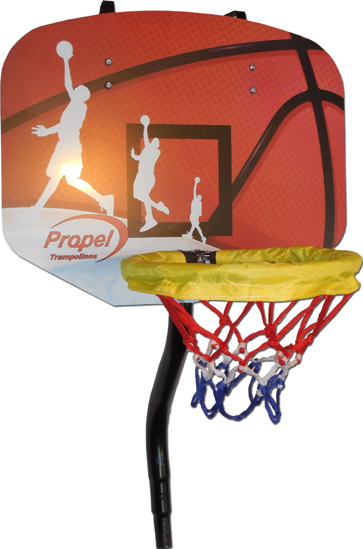 Bravo 12 ft trampoline with enclosure  plus free basketball system w/ mail in rebate