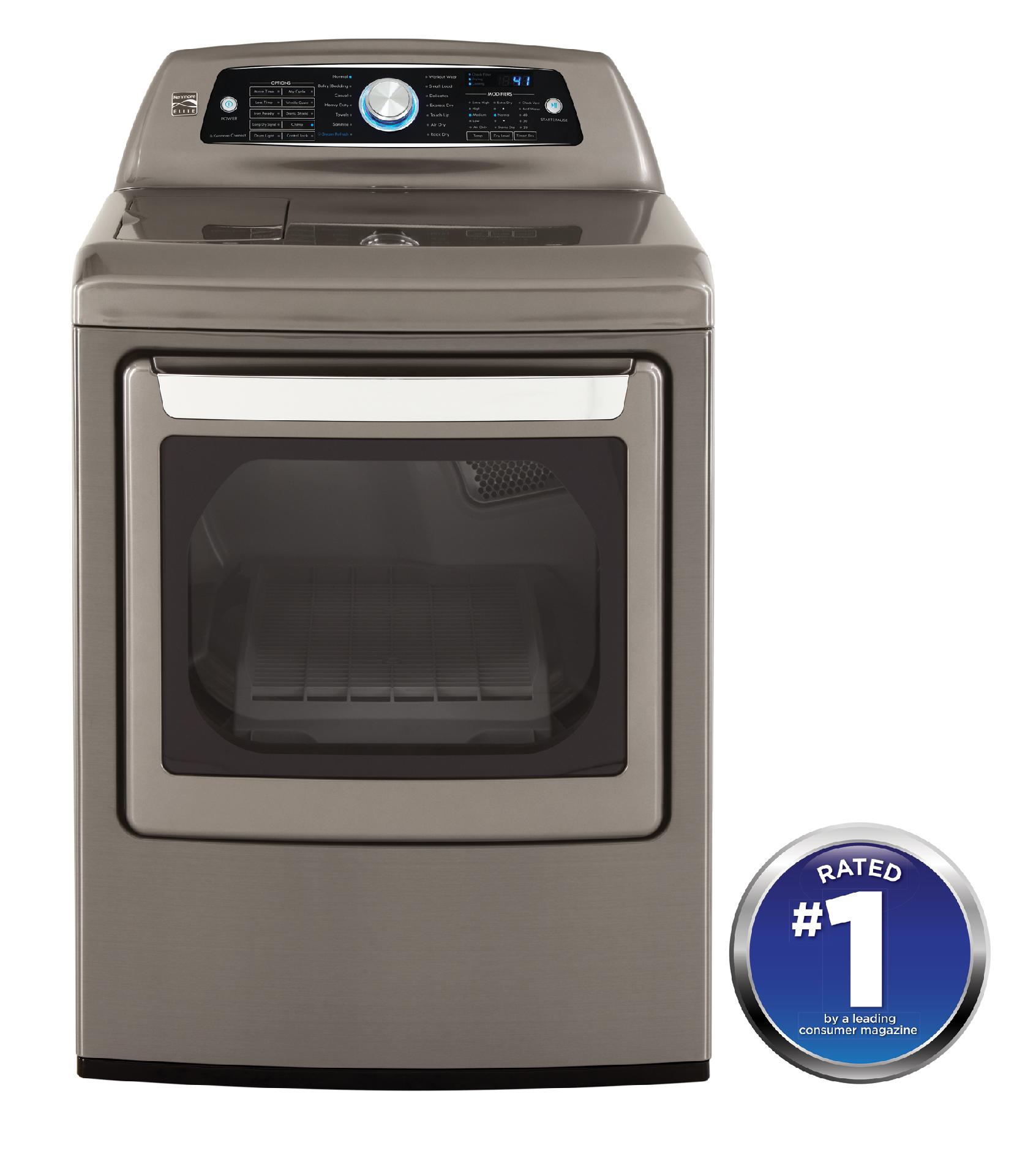Kenmore Elite 7.3 cu. ft. Electric Dryer w/ Steam – Metallic Gray
