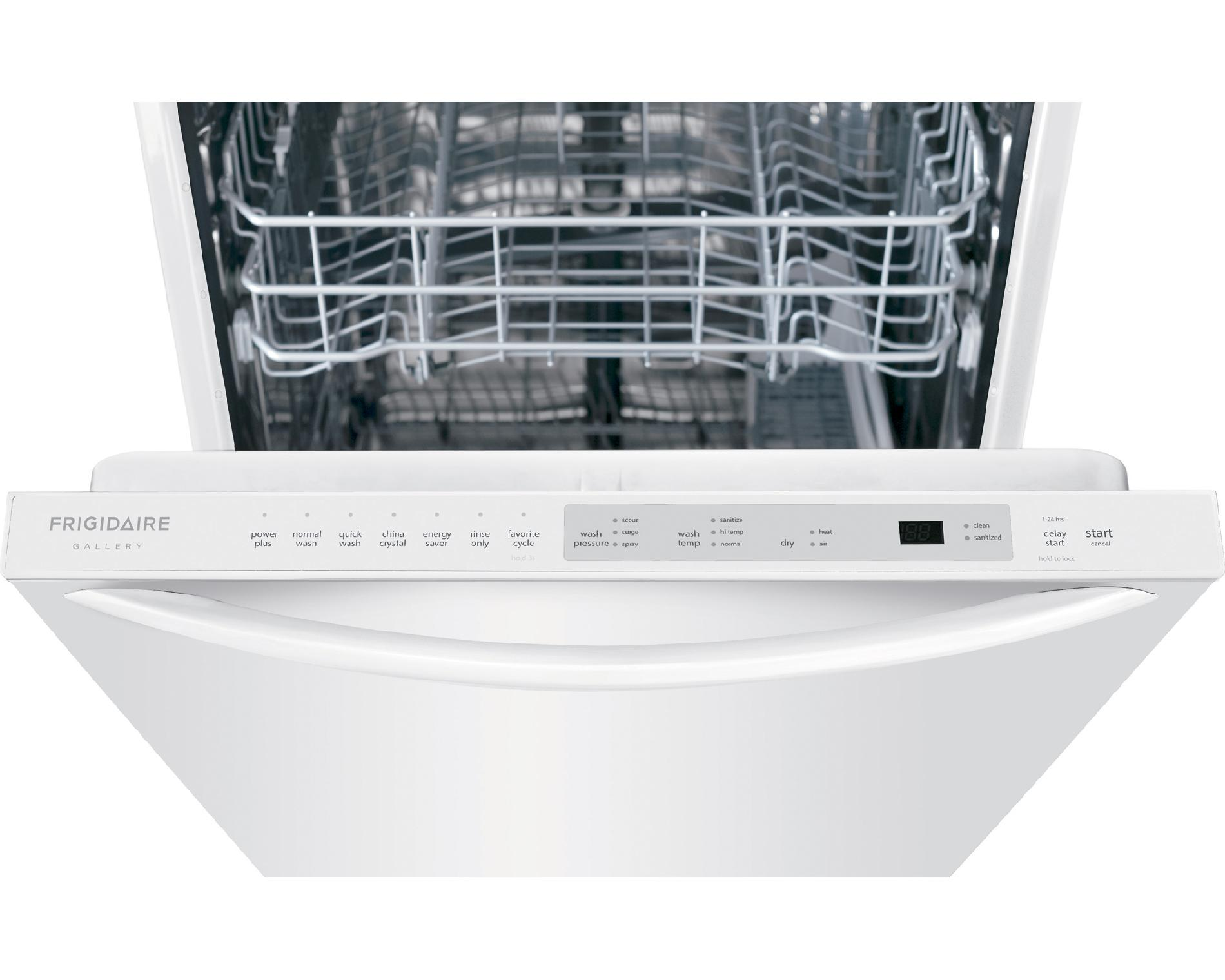 "Frigidaire Gallery FGID2474QW 24"" Built-In Dishwasher w/ OrbitClean® Wash System - White"