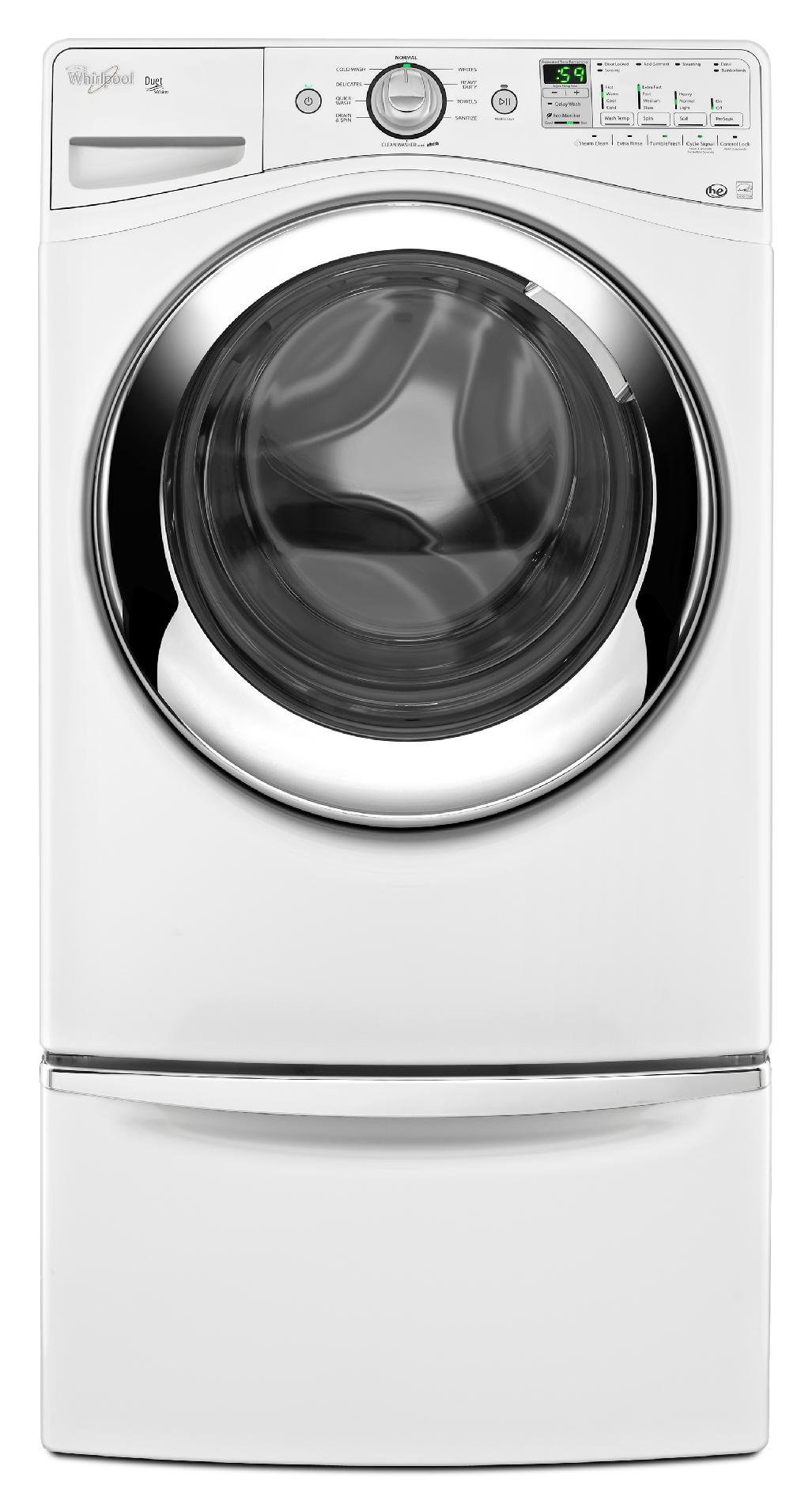 Whirlpool 4.1 cu. ft. Front-load Washer w/ Deep Clean Steam - White