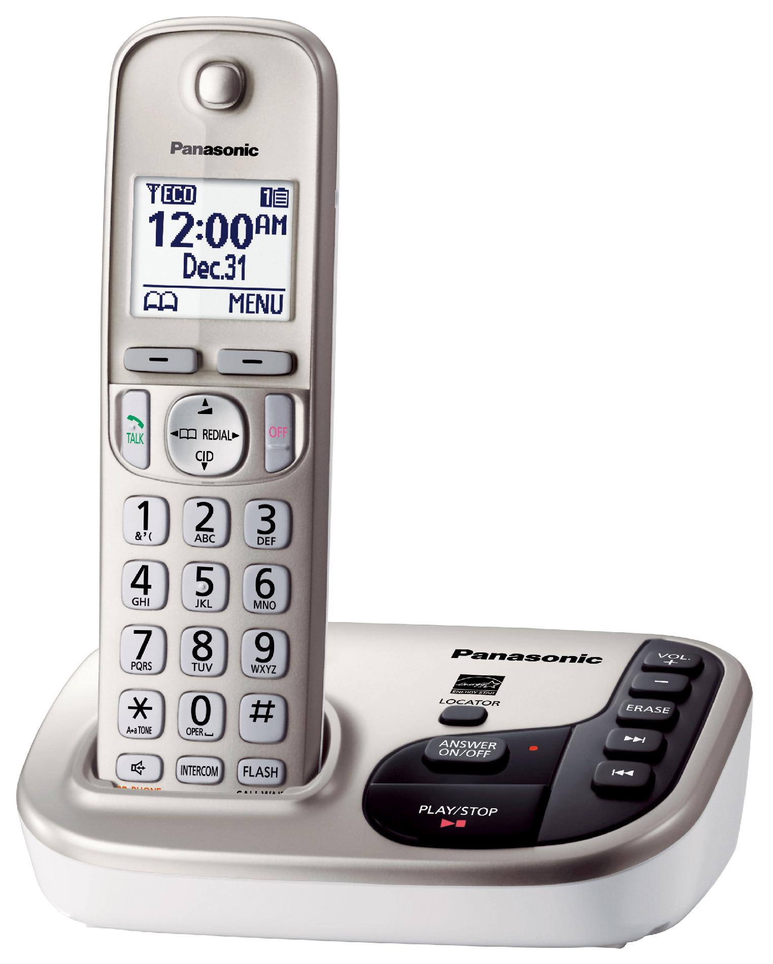 Panasonic Expandable Digital Cordless Answering System with 1 Handset - KX-TGD220N