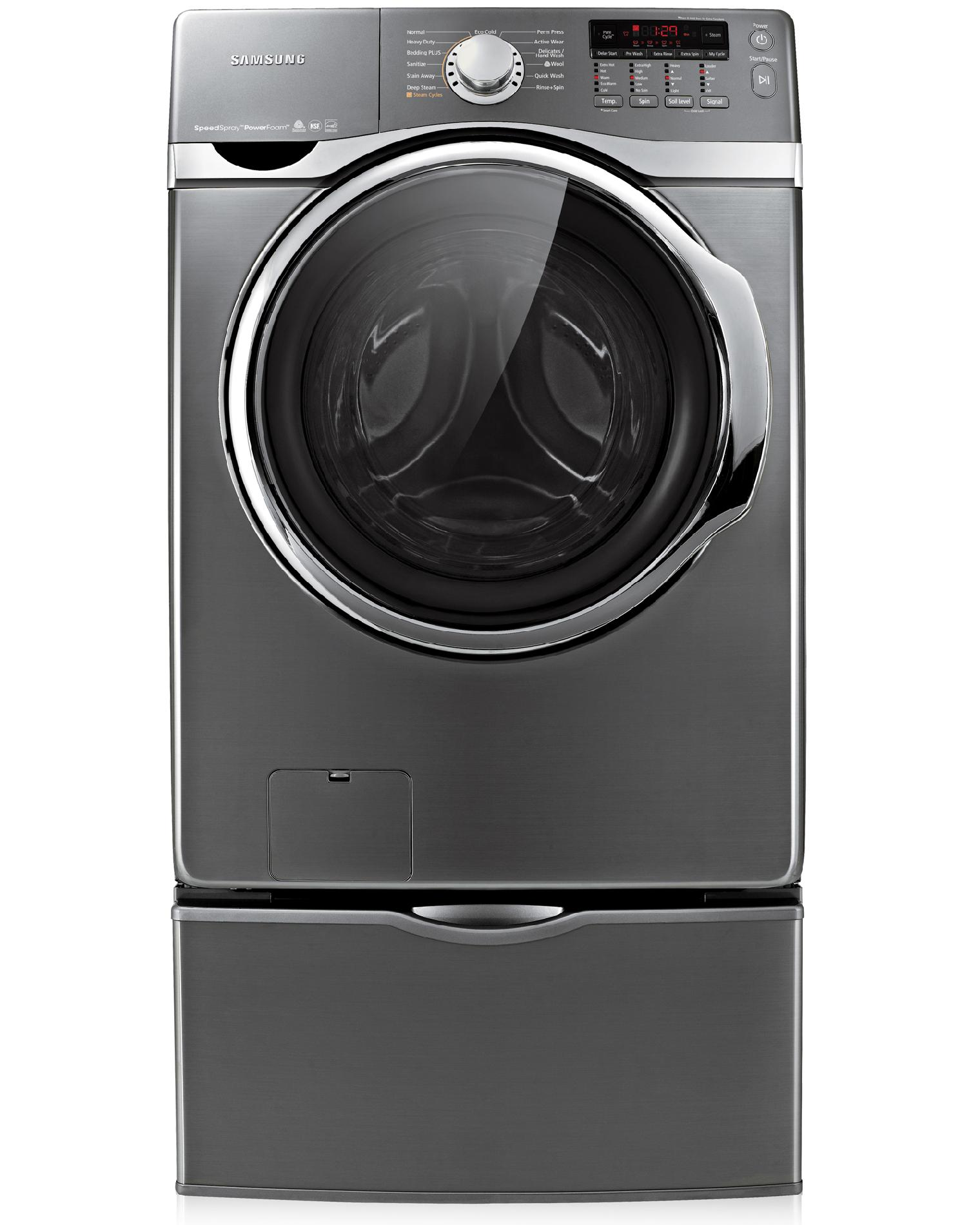 Samsung 4.0  cu. ft. Steam Front-Load Washer - Stainless Platinum