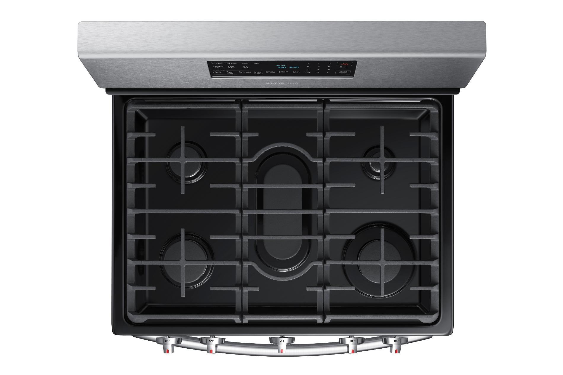 Samsung NX58H5600SS 5.8 cu. ft. Gas Range w/ 5-Burner Cooktop - Stainless Steel