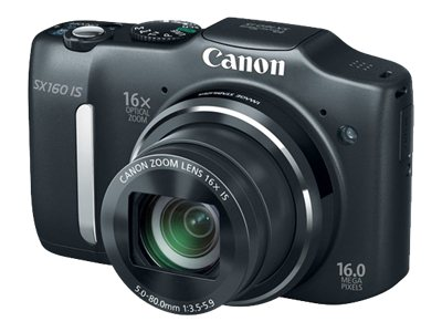 Canon PowerShot SX160 IS Digital Camera - Black