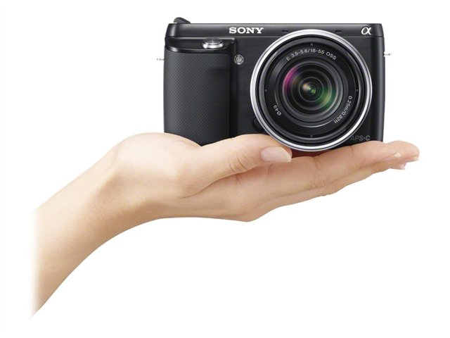 Sony 16.1MP Compact Interchangeable Lens Digital Camera NEX-F3K/B