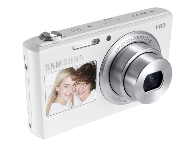 Samsung 16.2MP DV150F Dual-View SMART Camera Wi-Fi - White