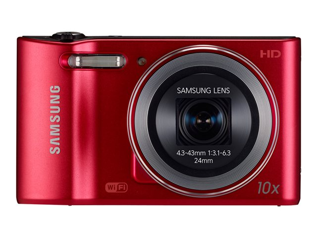 Samsung 16.2MP WB30F Smart Camera - Red