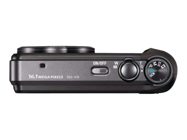Sony Cyber-shot DSC-H70 - Digital camera - compact - 16.1 MP - 10 x optical zoom - black