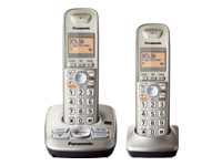 Panasonic 2 Handset Expandable Digital Cordless Answering System KX-TG4222N