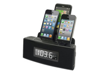 DOK Alarm Clock w/ 3-Port Smartphone Charger CR18