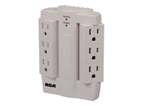 RCA 6 Swivel Outlet Surge Protector