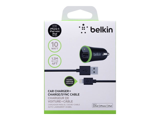 Belkin Car Charger w/ Lightning to USB Adapter
